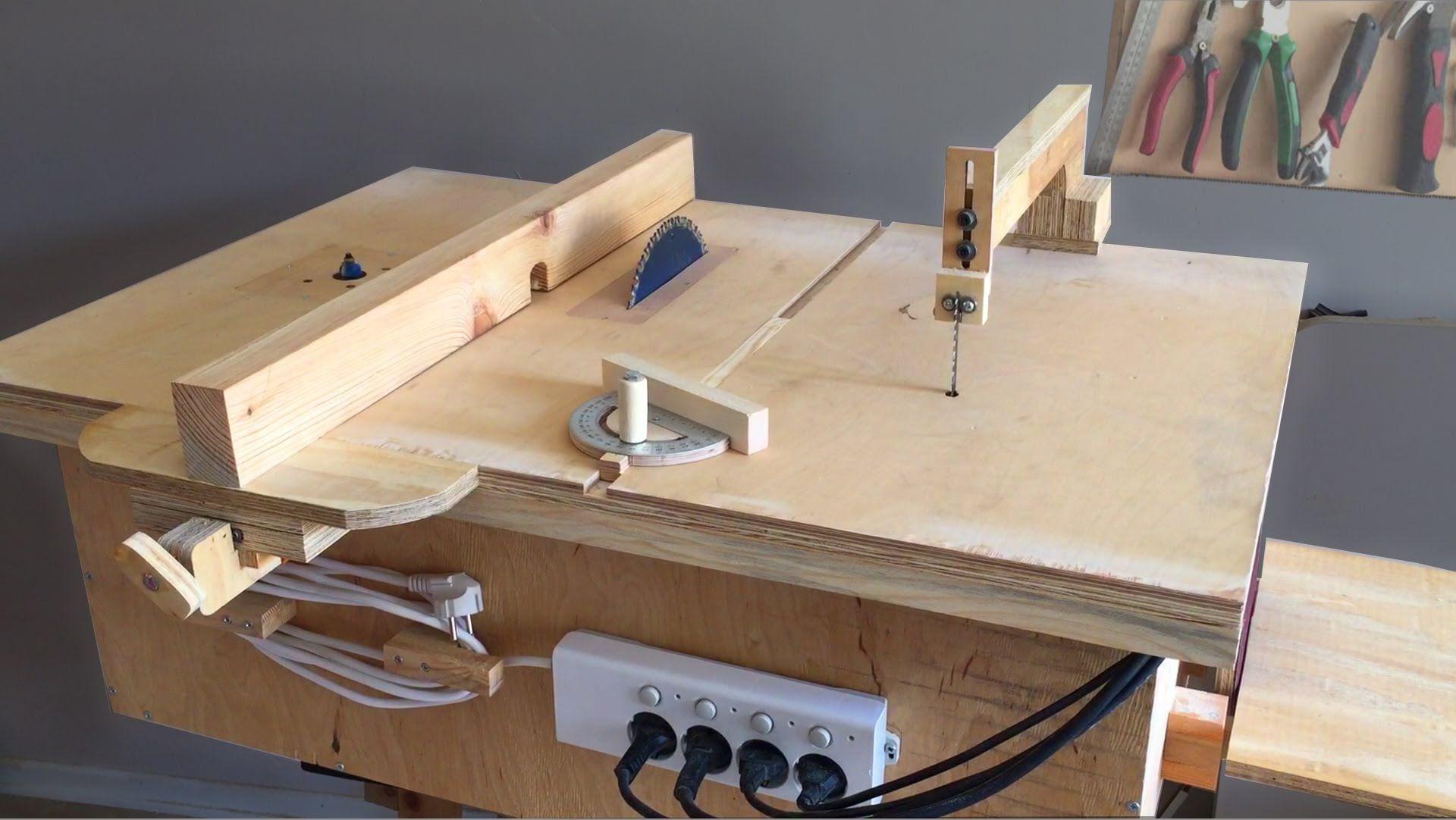 Стол для дисковой пилы и фрезера своими руками чертежи