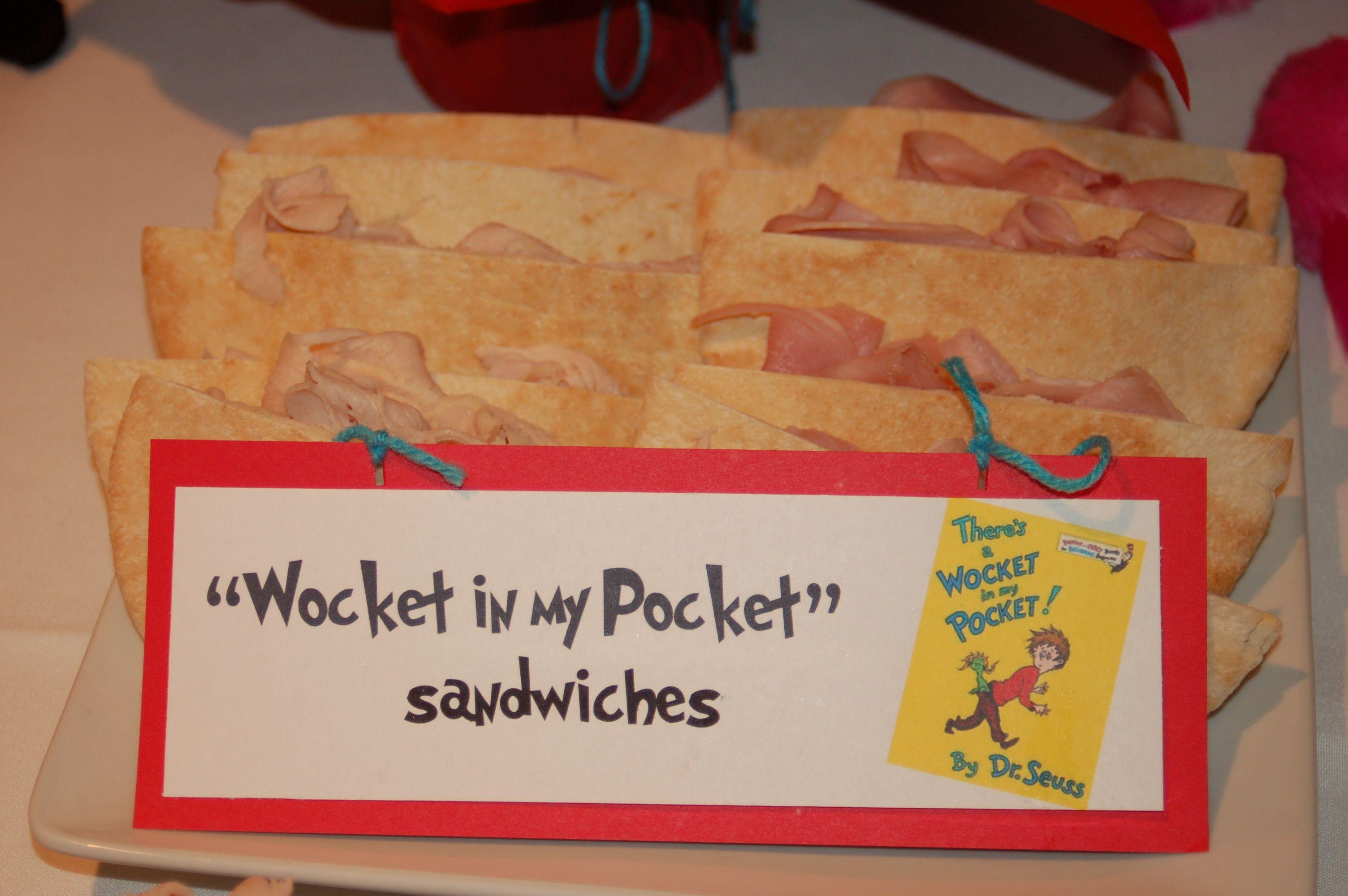 pocket sandwich shower ideas baby wedding pinterest