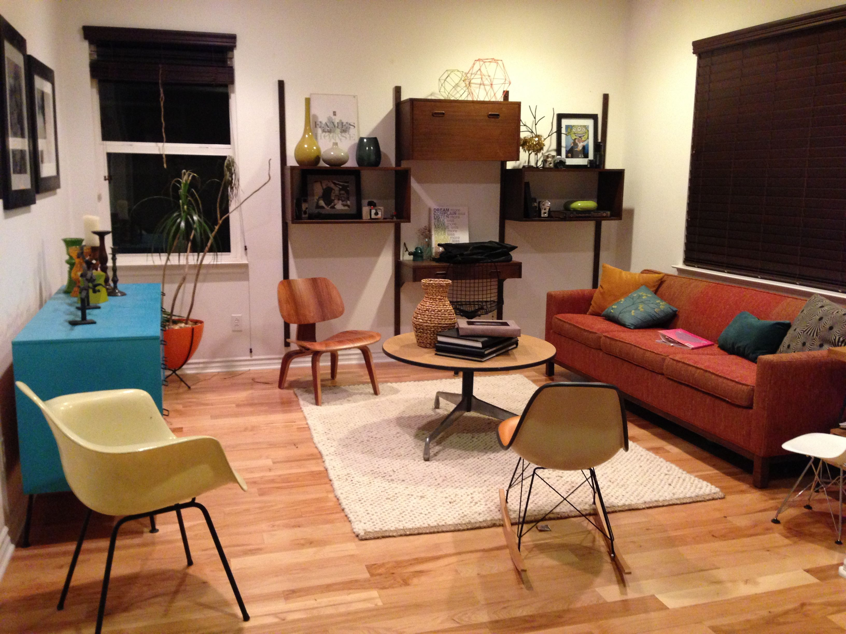 mid century modern living room | retro home decor | pinterest