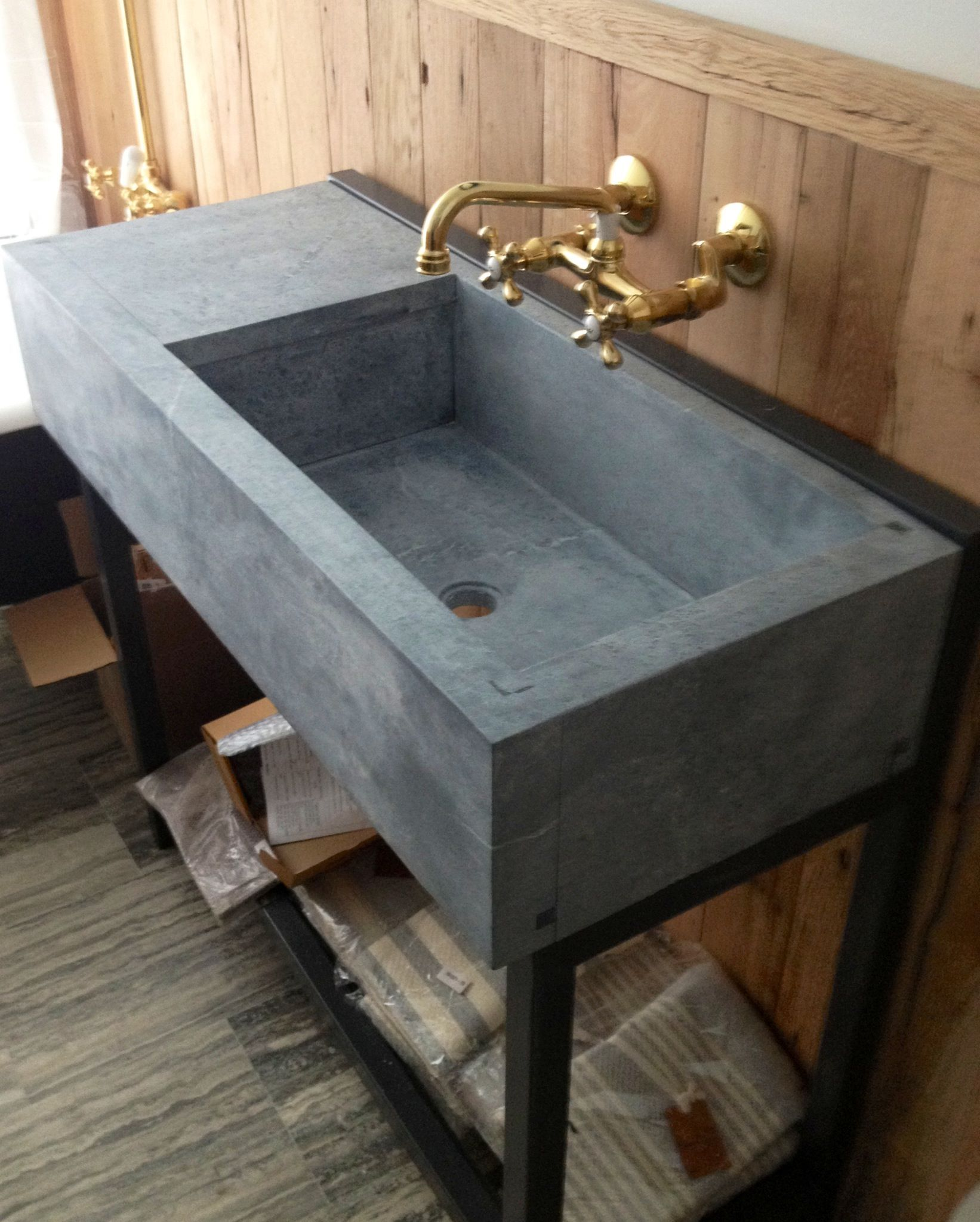 Barn Sinks For Kitchen : soapstone sink for powder room barn style Pinterest
