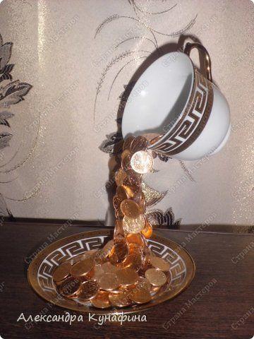 Парящая чашка с монетами пошаговое