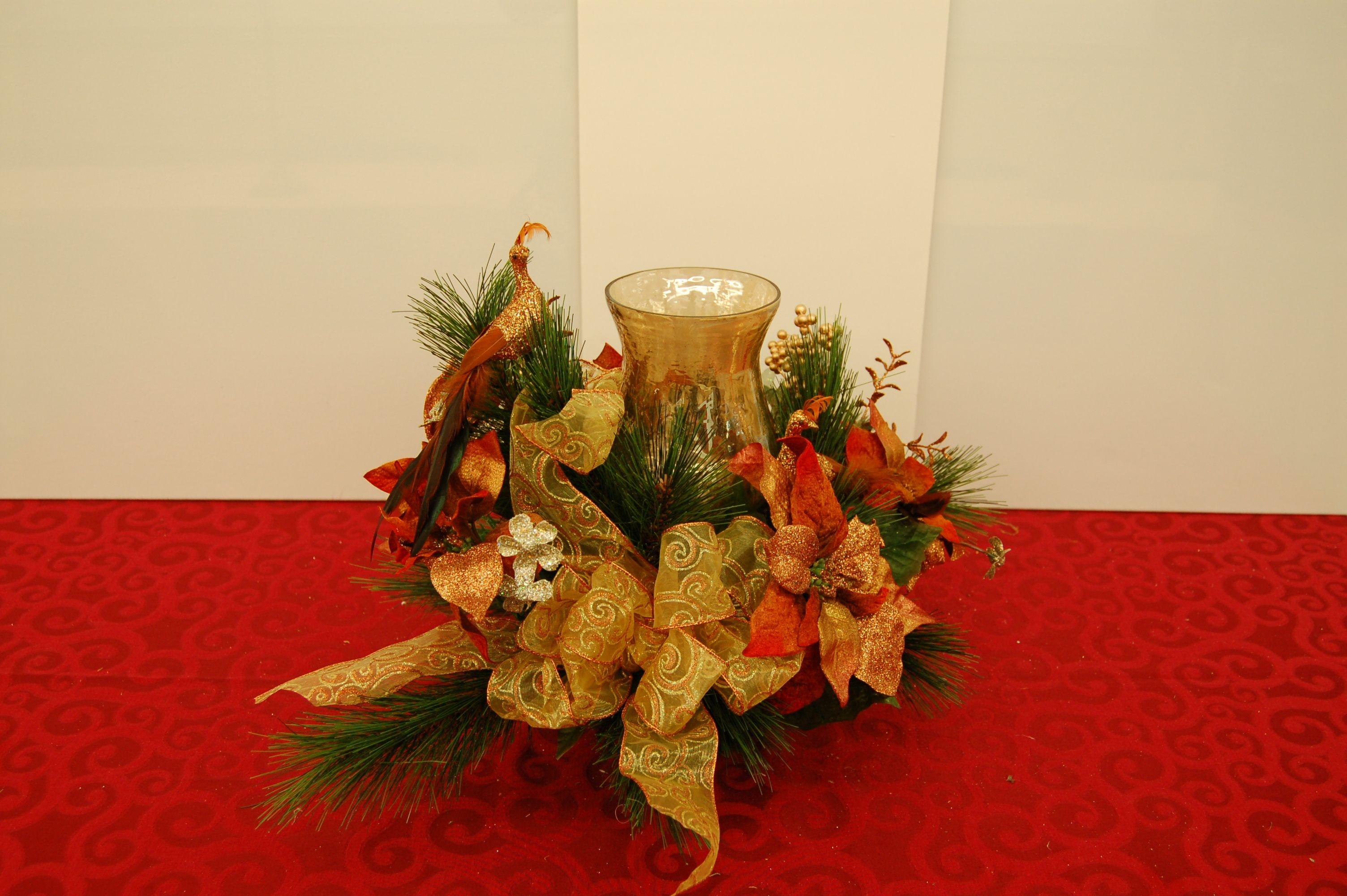 Candle Centerpiece Christmas Pinterest