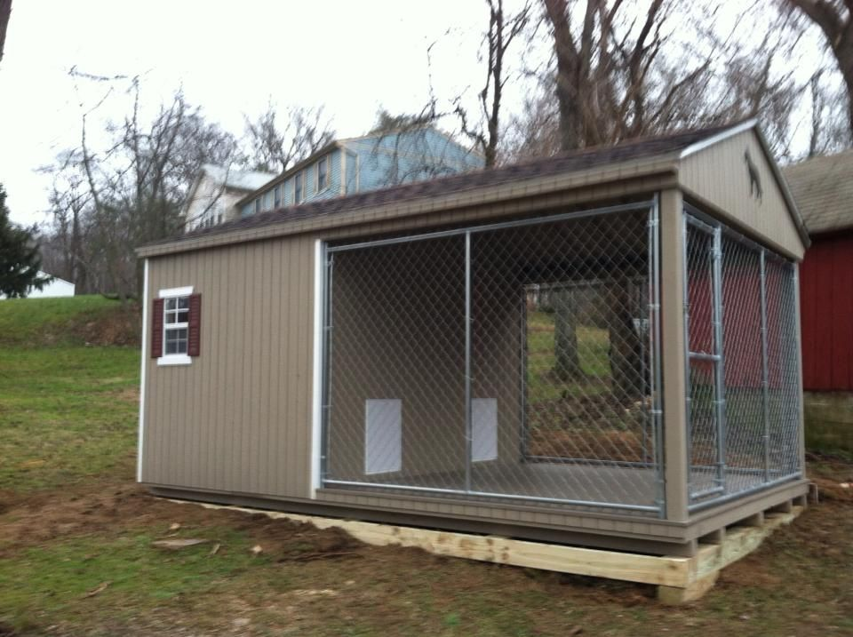 Amish dog kennel dog house kennel pinterest for Amish dog kennels for sale