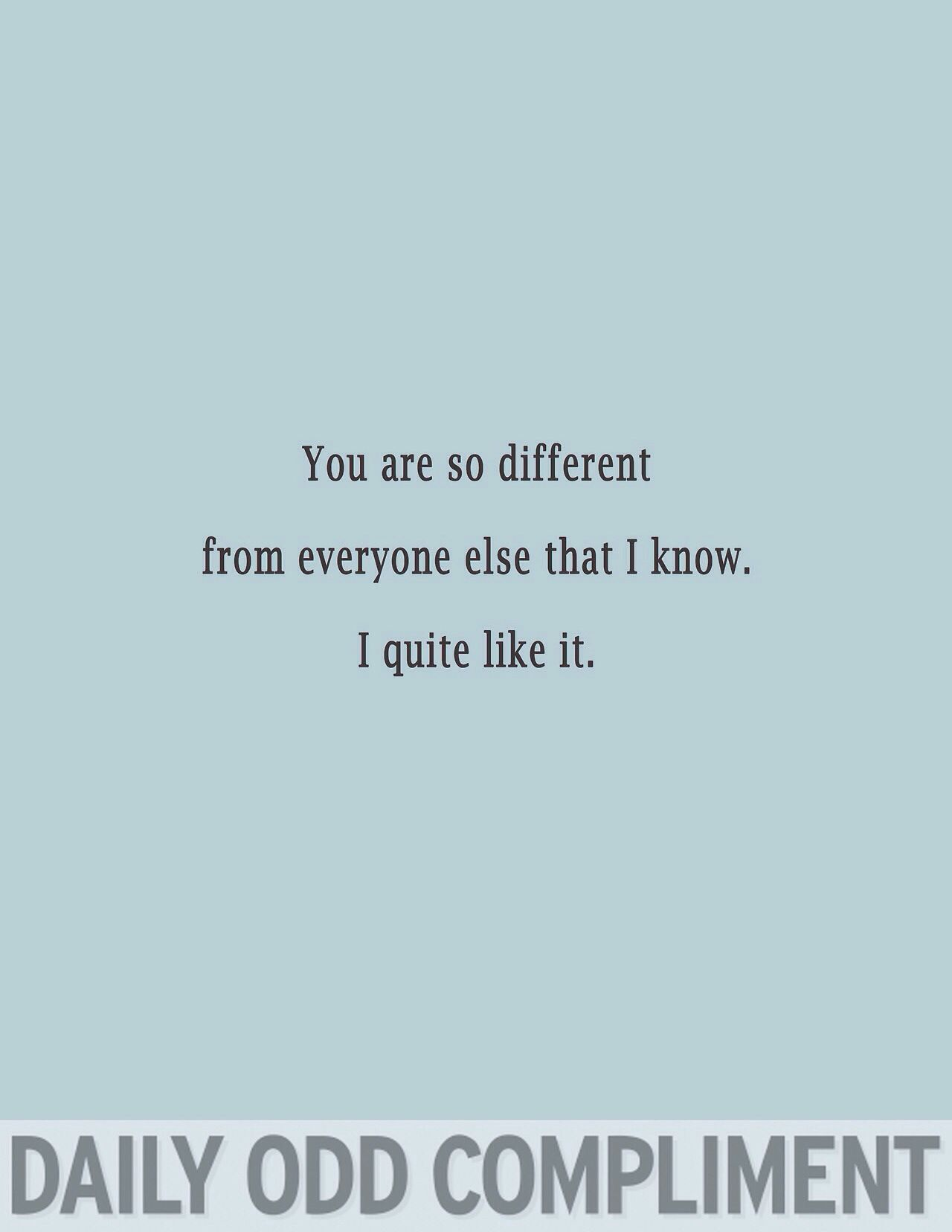 Daily odd compliment love