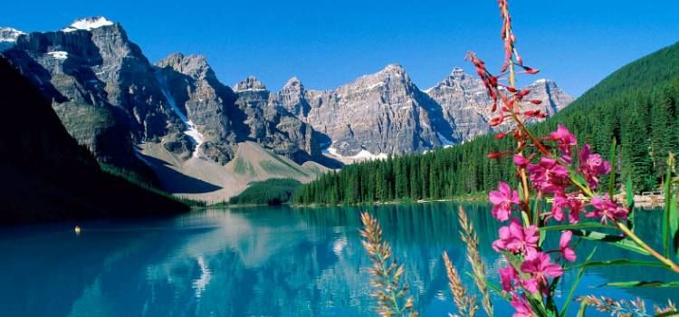 Lago Moraine, el lago más foto-génico de Canadá costa oeste, viaje Canadá