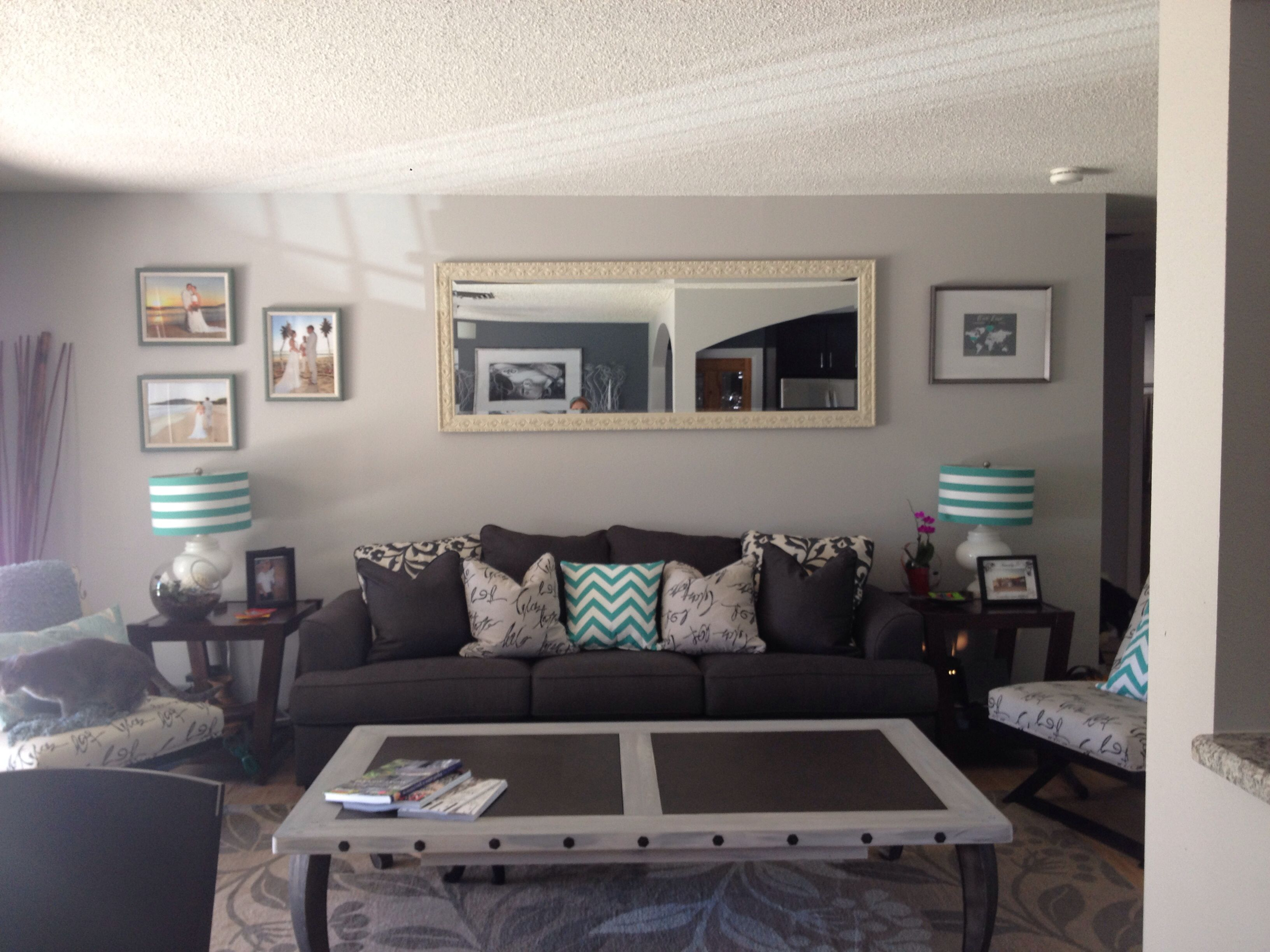 Best Living Room Grey And Turquoise For The Home Pinterest 640 x 480