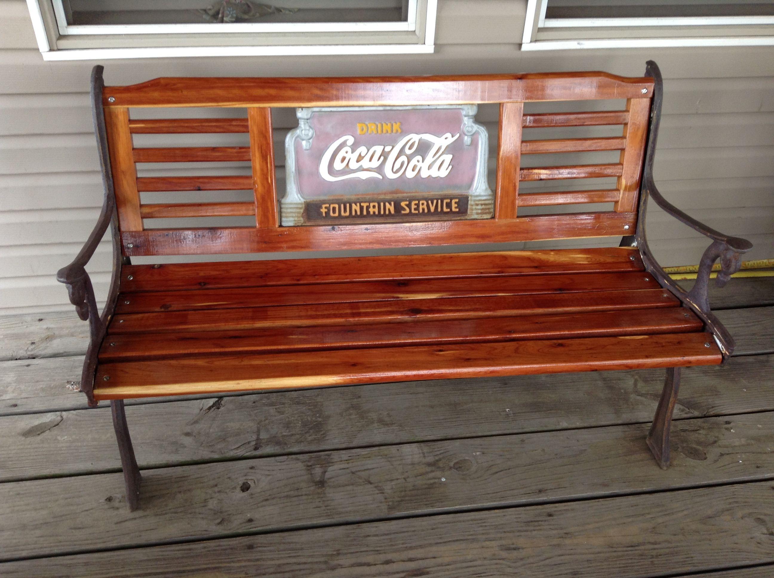 Restored Coca Cola Bench Ideas Pinterest