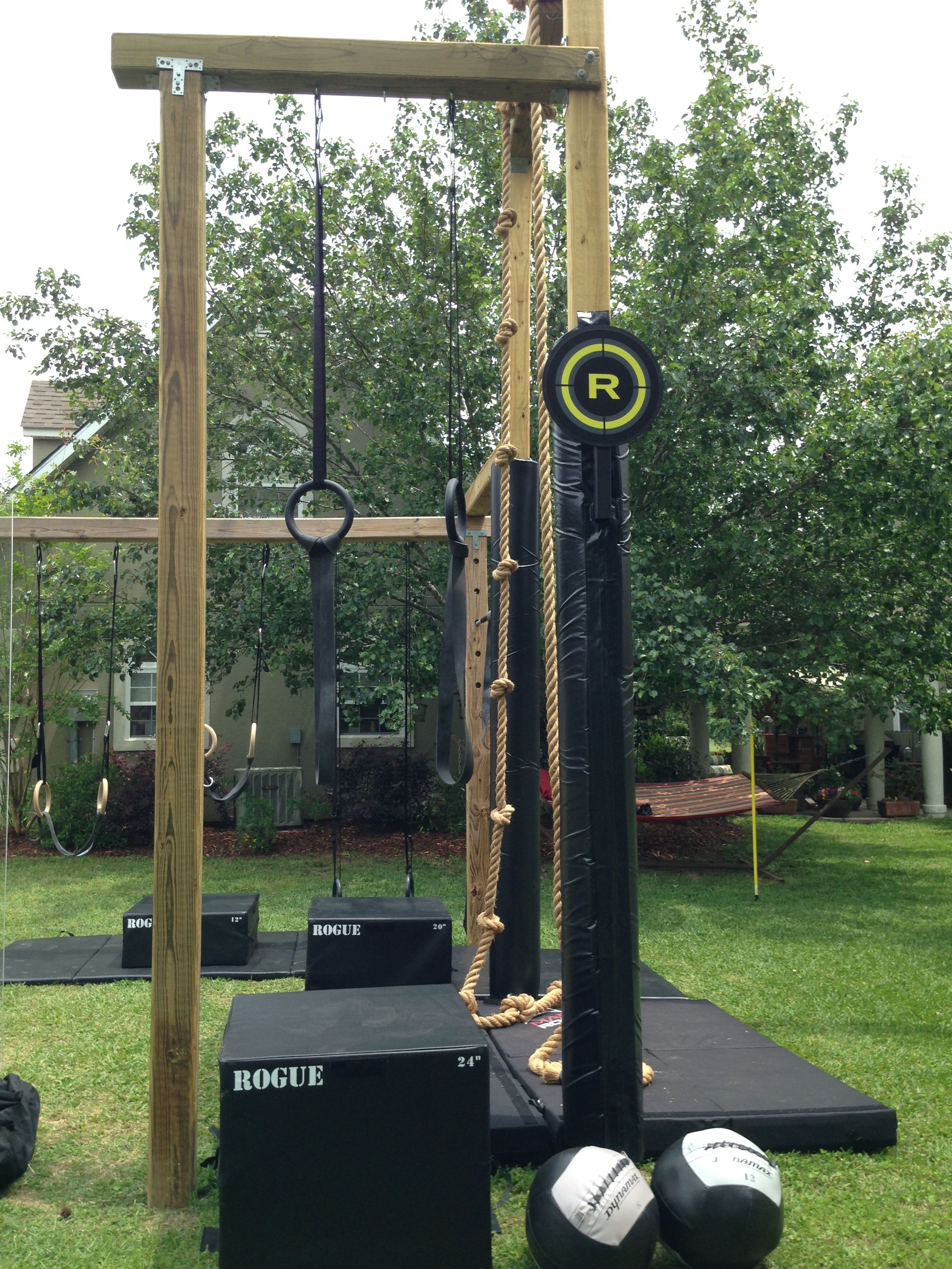Backyard Gym Building : muscle up rings and wall ball  Crossfit Stuff  Pinterest