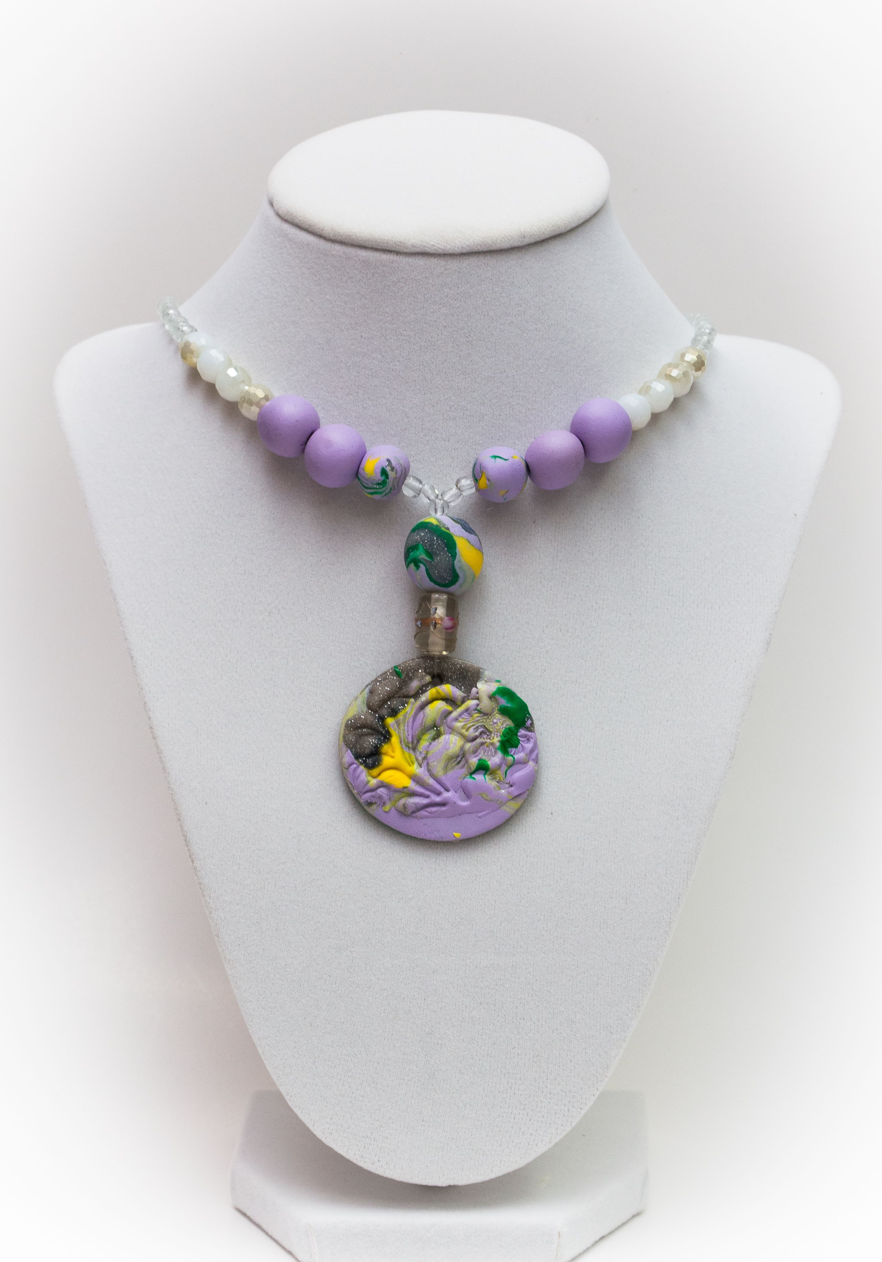 Jewelry making necklace : Clay necklace jewelry making necklaces