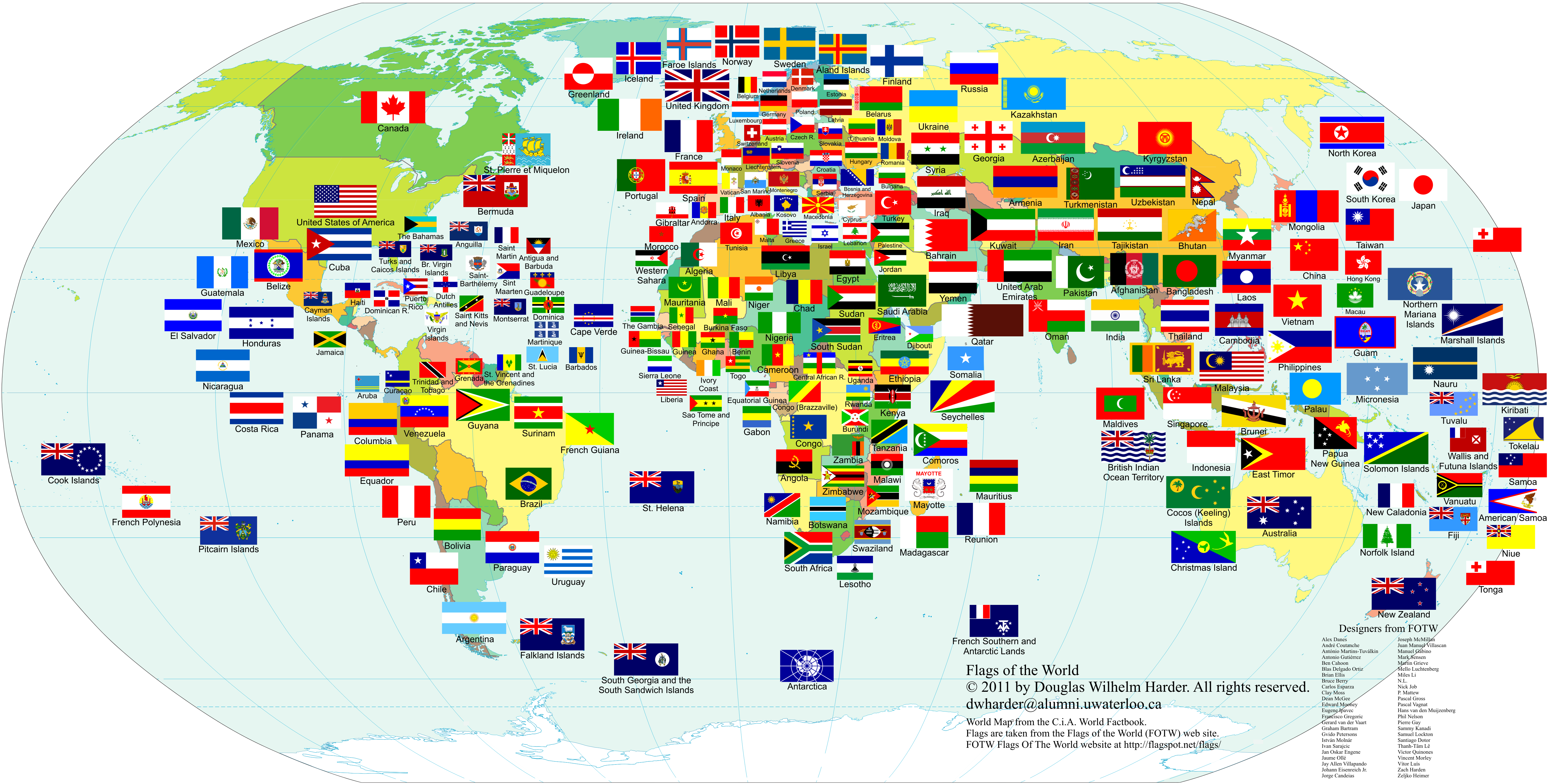 World map by flags new political world map vector illustration flags flags of the world gumiabroncs Choice Image