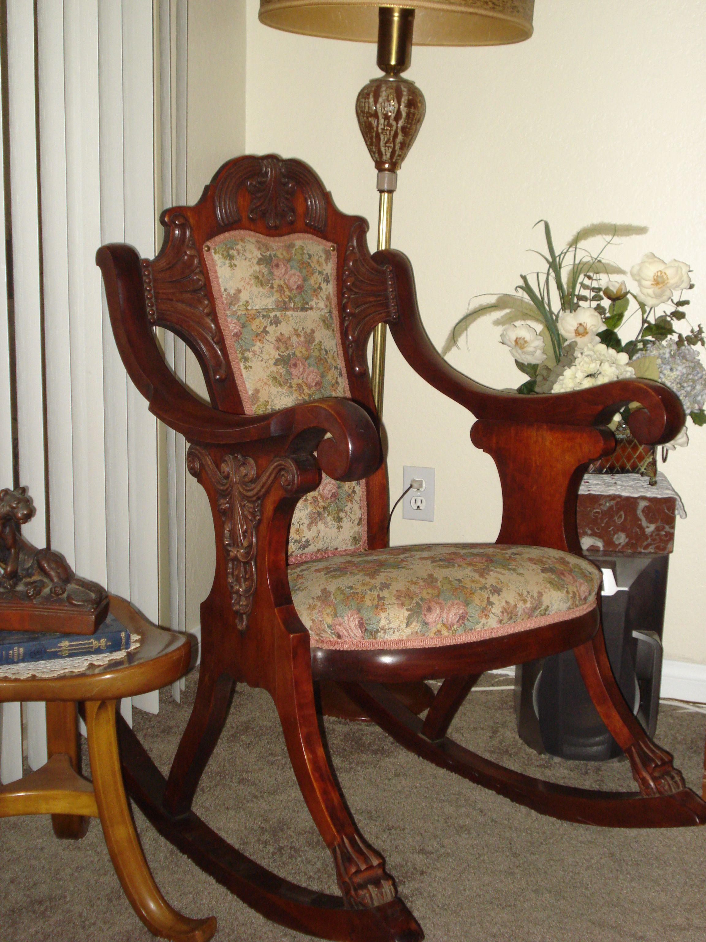 antique wooden rocking chair rocking chair love pinterest