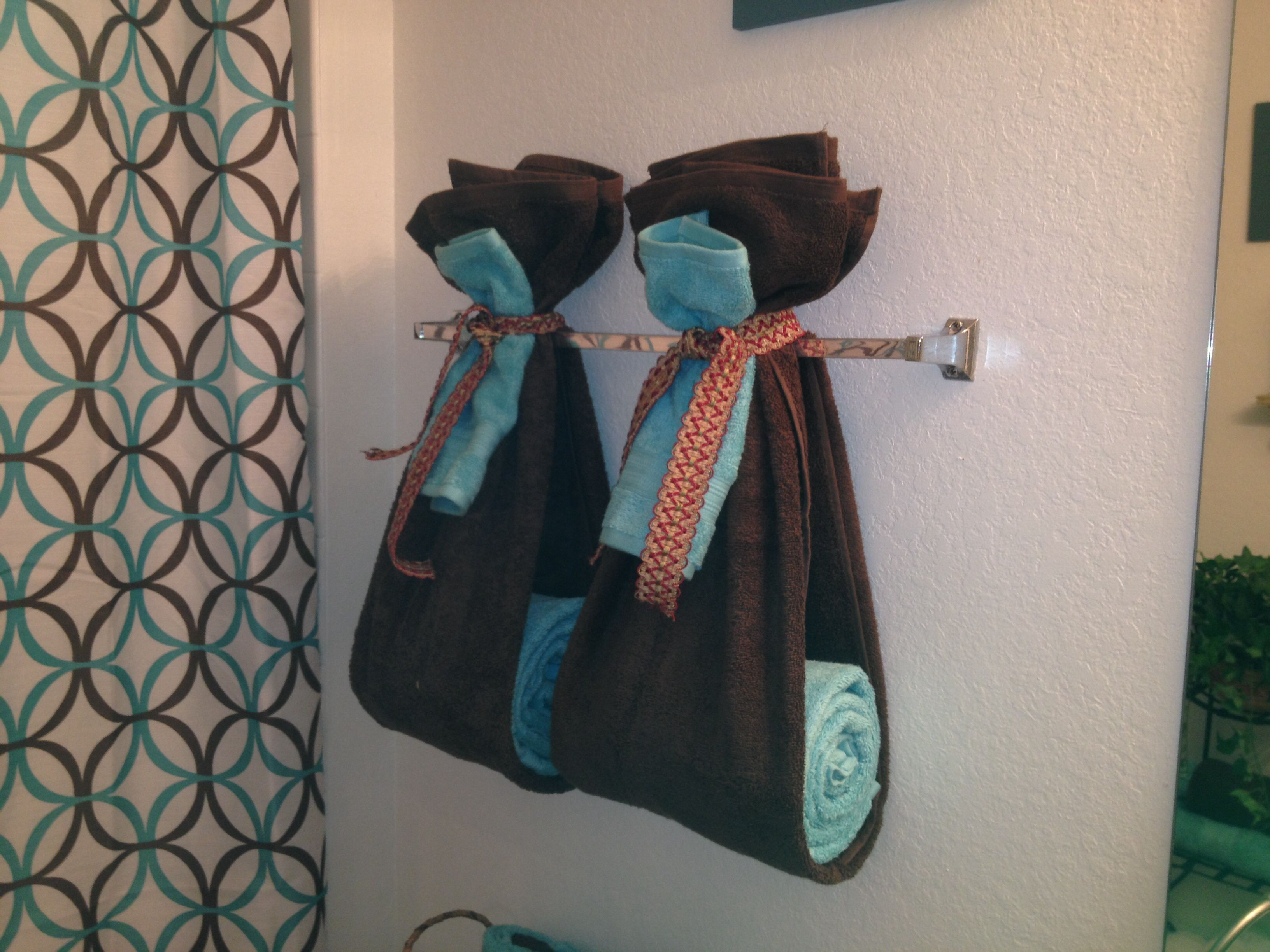 towel decoration bathroom ideas pinterest
