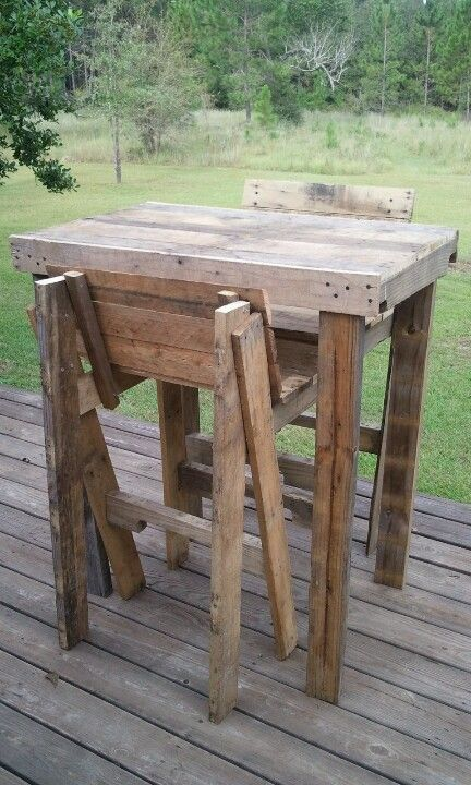 Bar stools stools and pallets on pinterest for Stools made from pallets