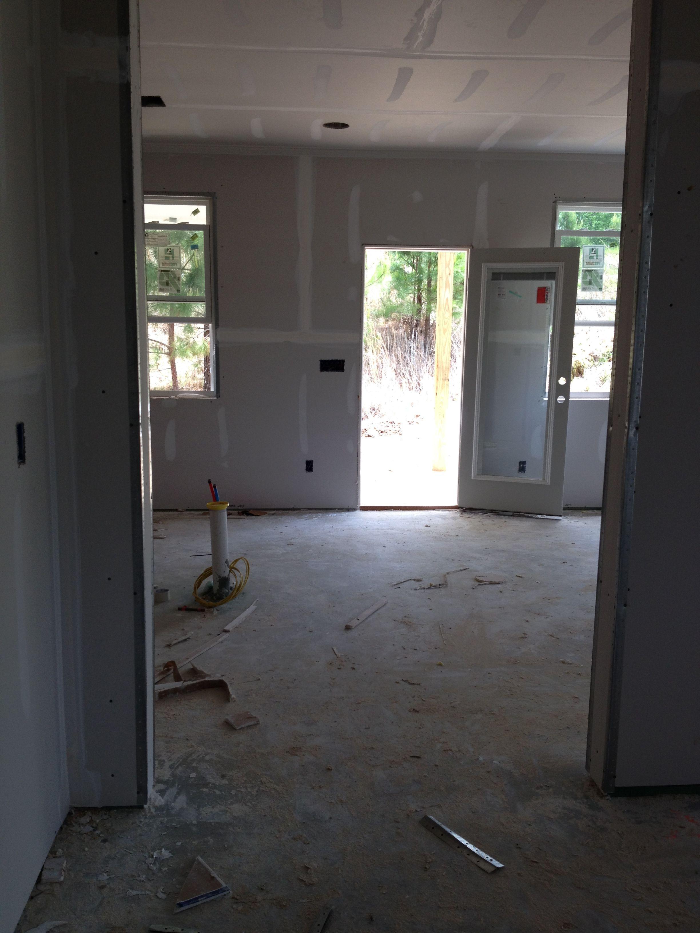 Looking into kitchen toward back door new home pinterest for Kitchen back door