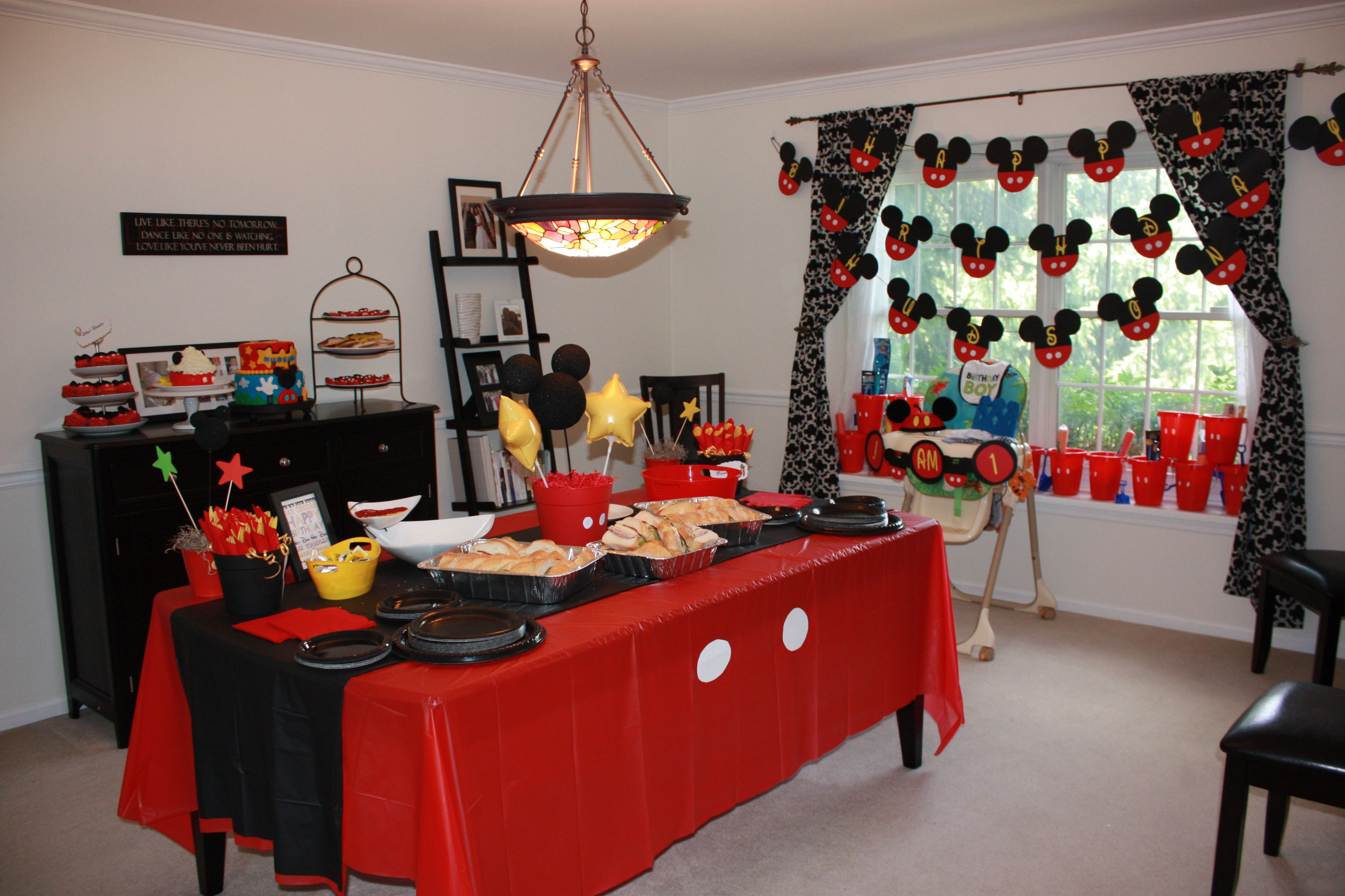 Images of mickey mouse table decorations photograph birthd