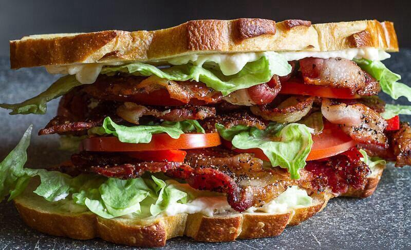 Bacon, Lettuce and Tomato Sandwich. | Bacon | Pinterest