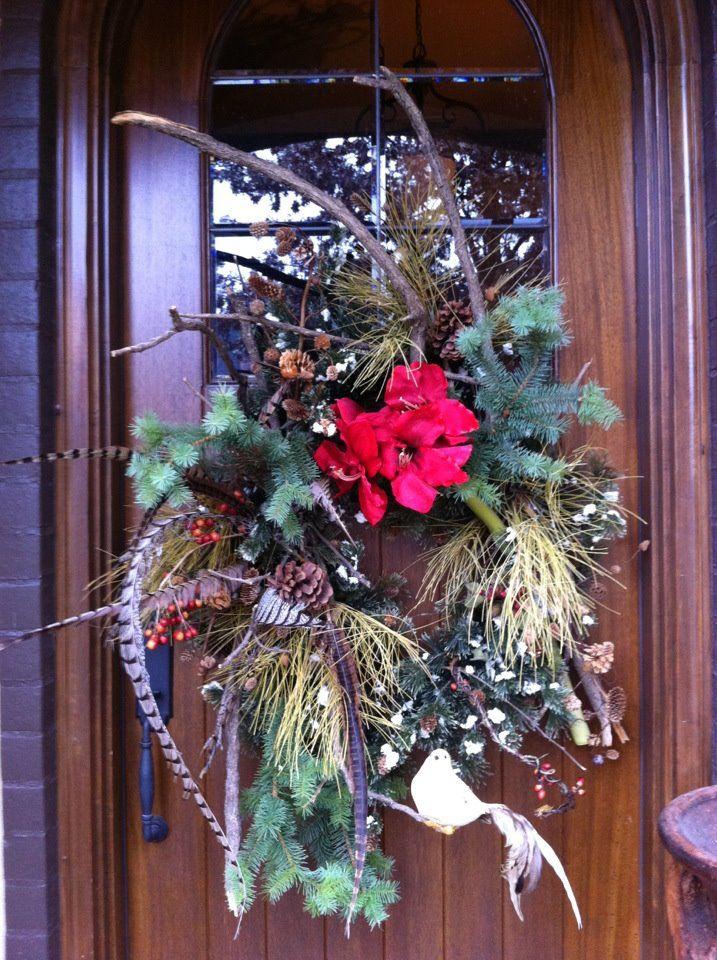 Front door wreath christmas creations pinterest for Front door xmas wreaths