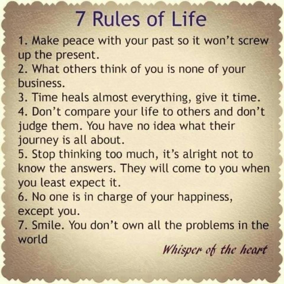 7 rules of life love quotes posters pinterest