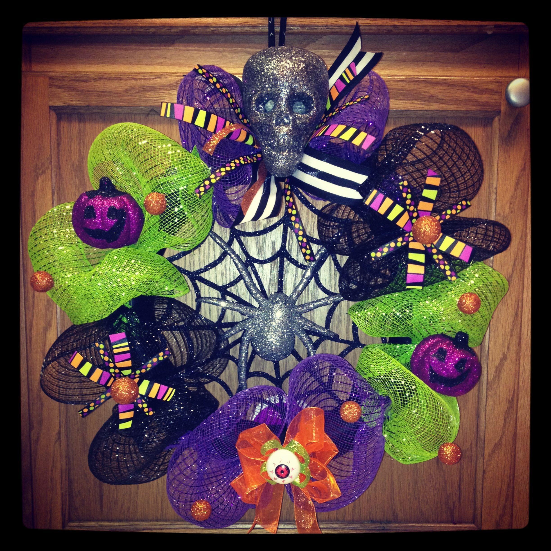 Halloween Wreath Diy Tulle Pinterest