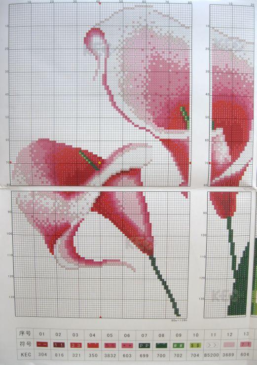 Вышивка крестом триплекс схемы