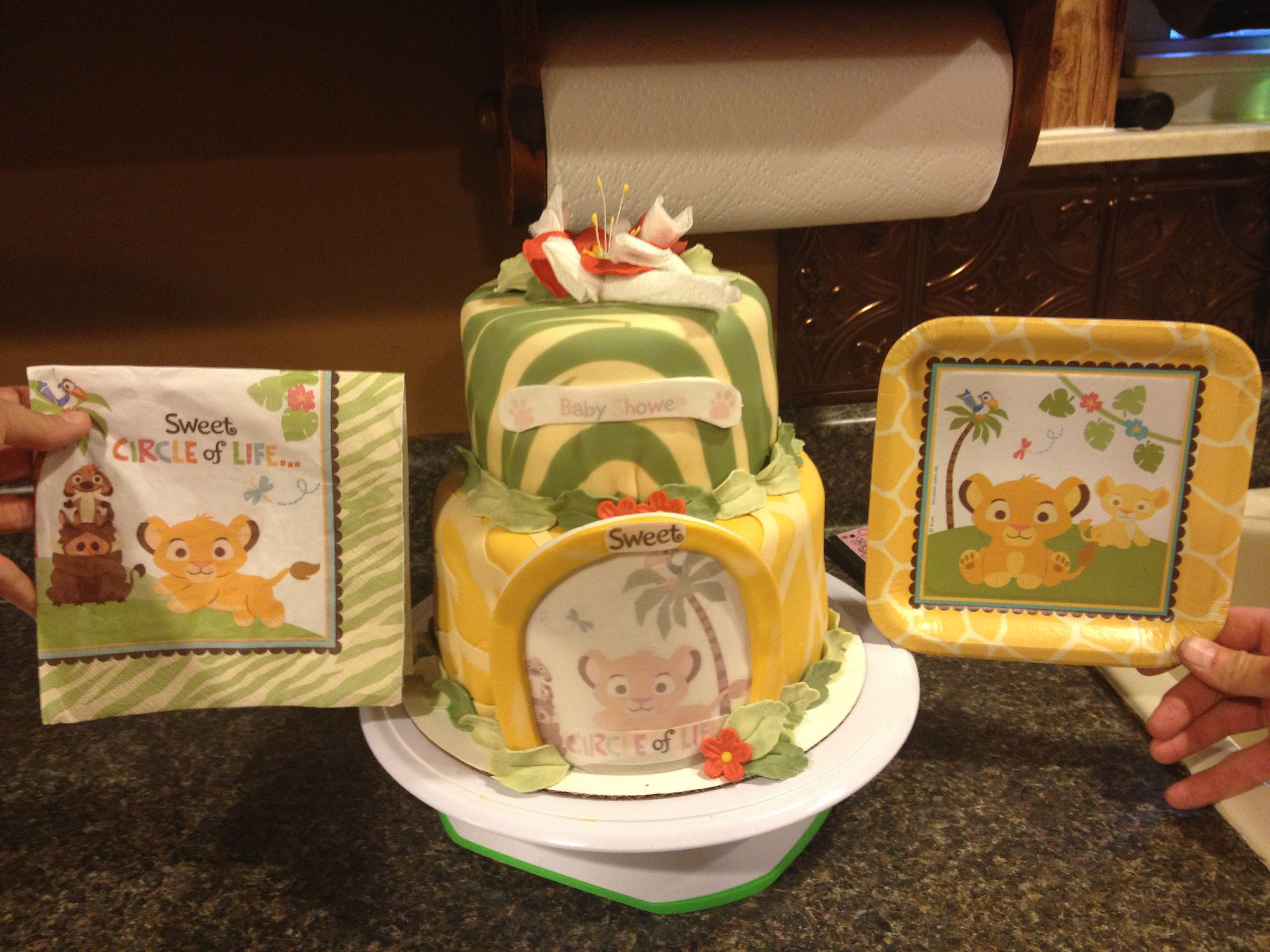 lion king baby shower cake thing i 39 ve made from pintrest ideas pi