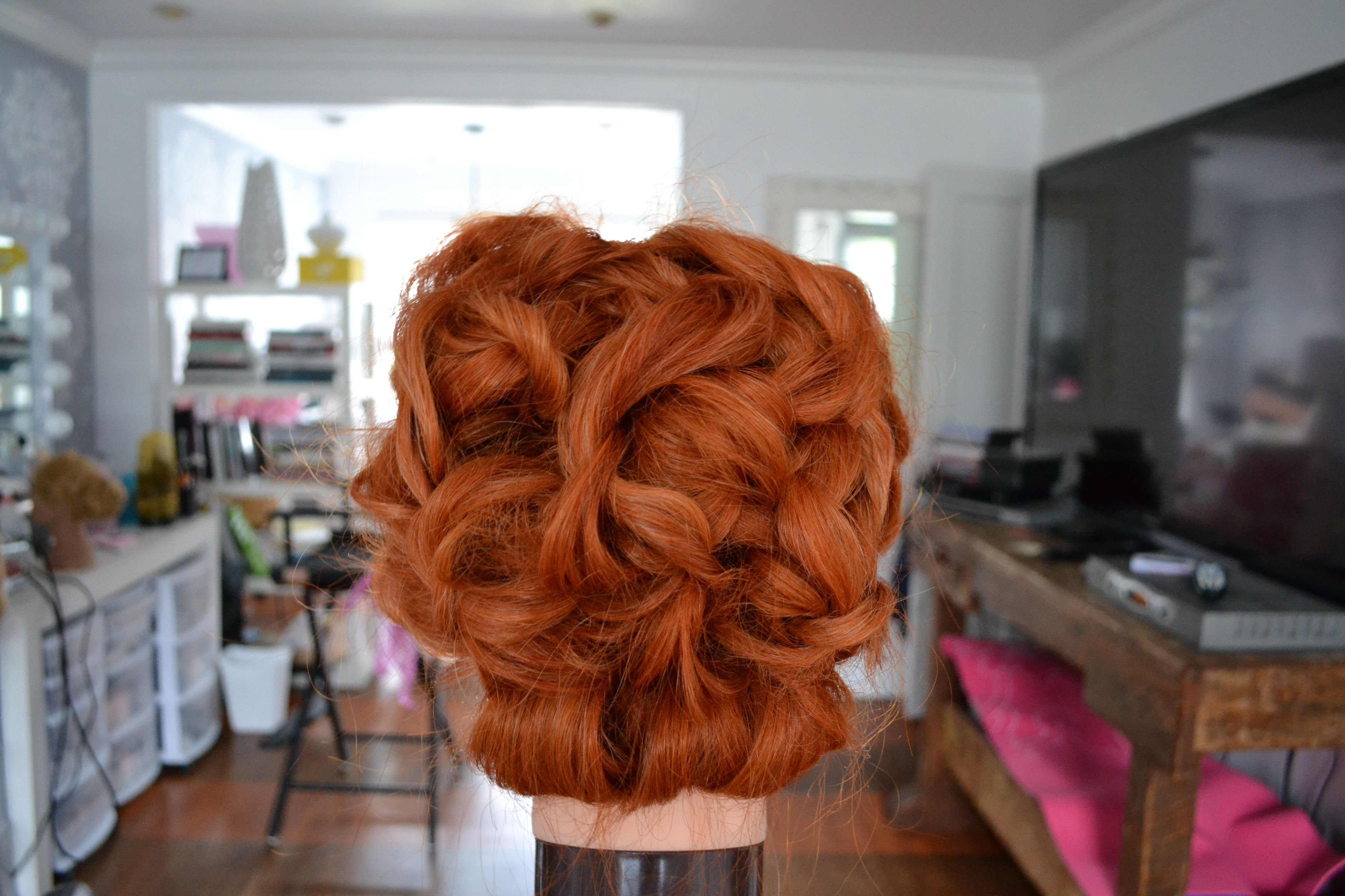 Red head up do back view | Hair Styles!!!!! | Pinterest