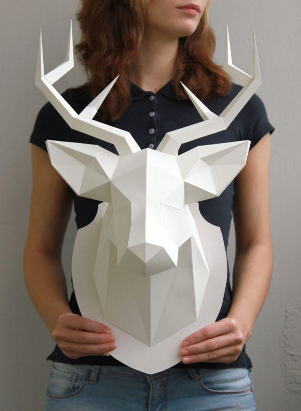 Олень оригами на стену своими руками