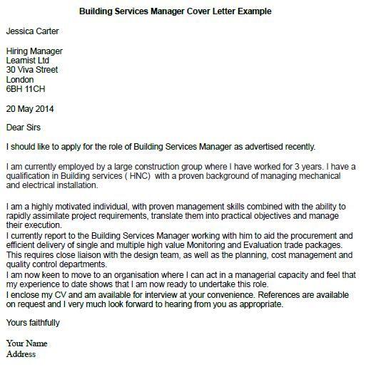 job cover letter construction