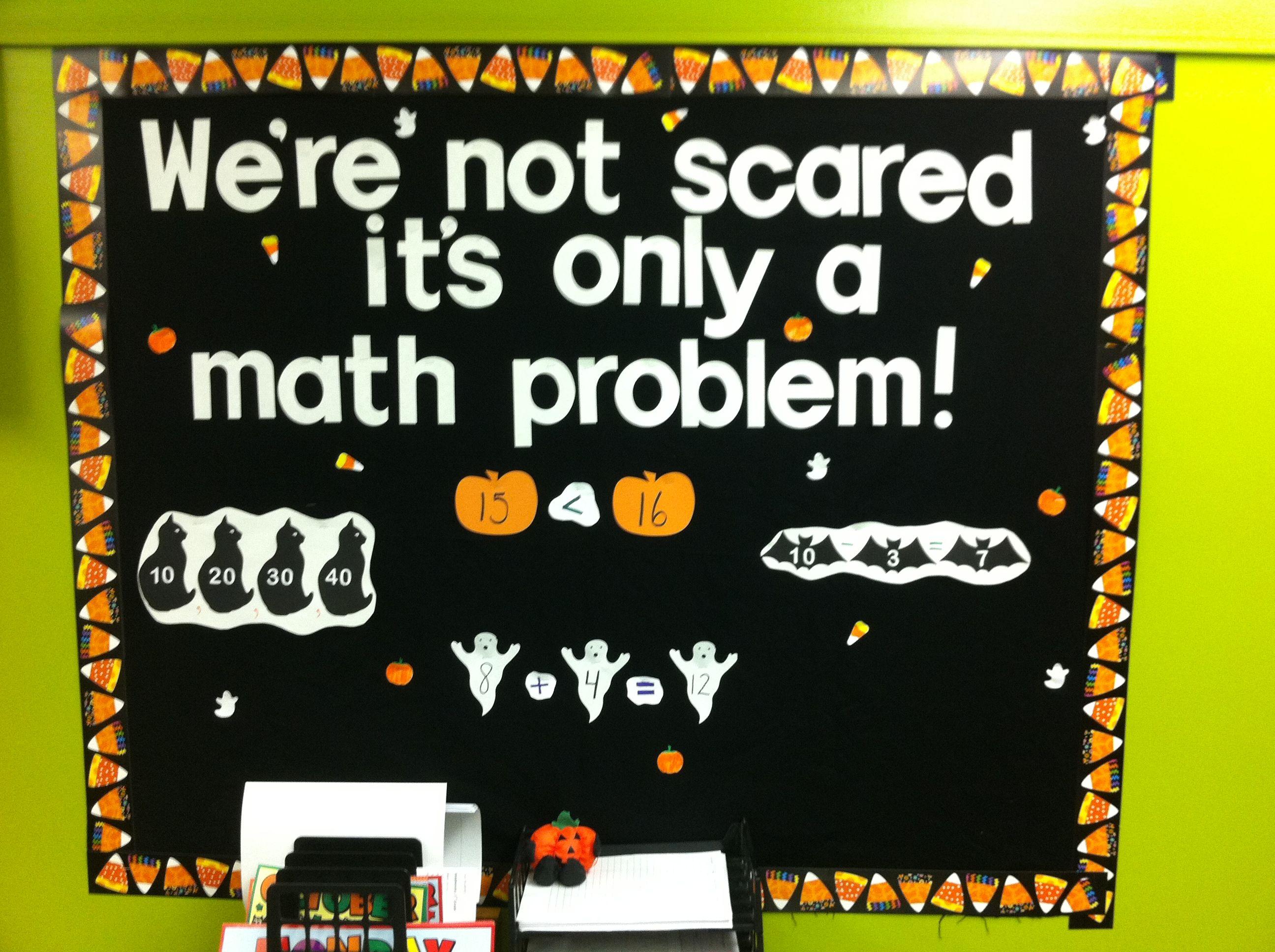Halloween math bulletin board | education | Pinterest