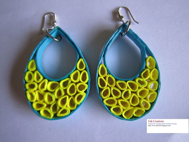 Using Paper Quilling Earrings