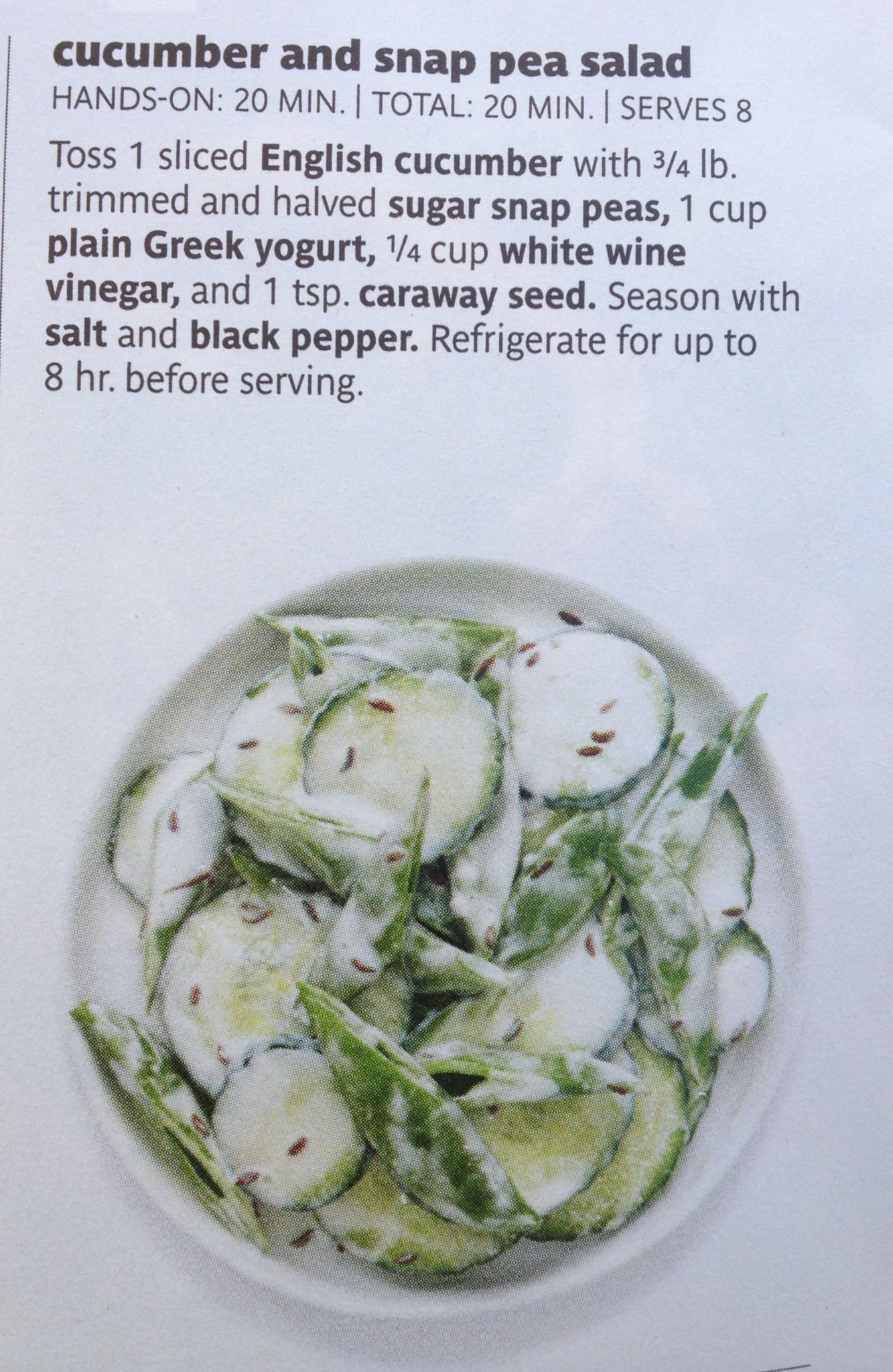 Cucumber and snap pea salad | meal ideas | Pinterest