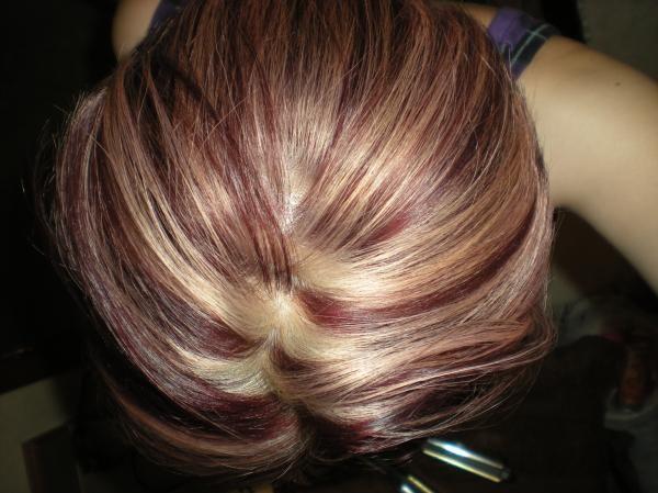 blonde/violet highlights | Hair color~ | Pinterest