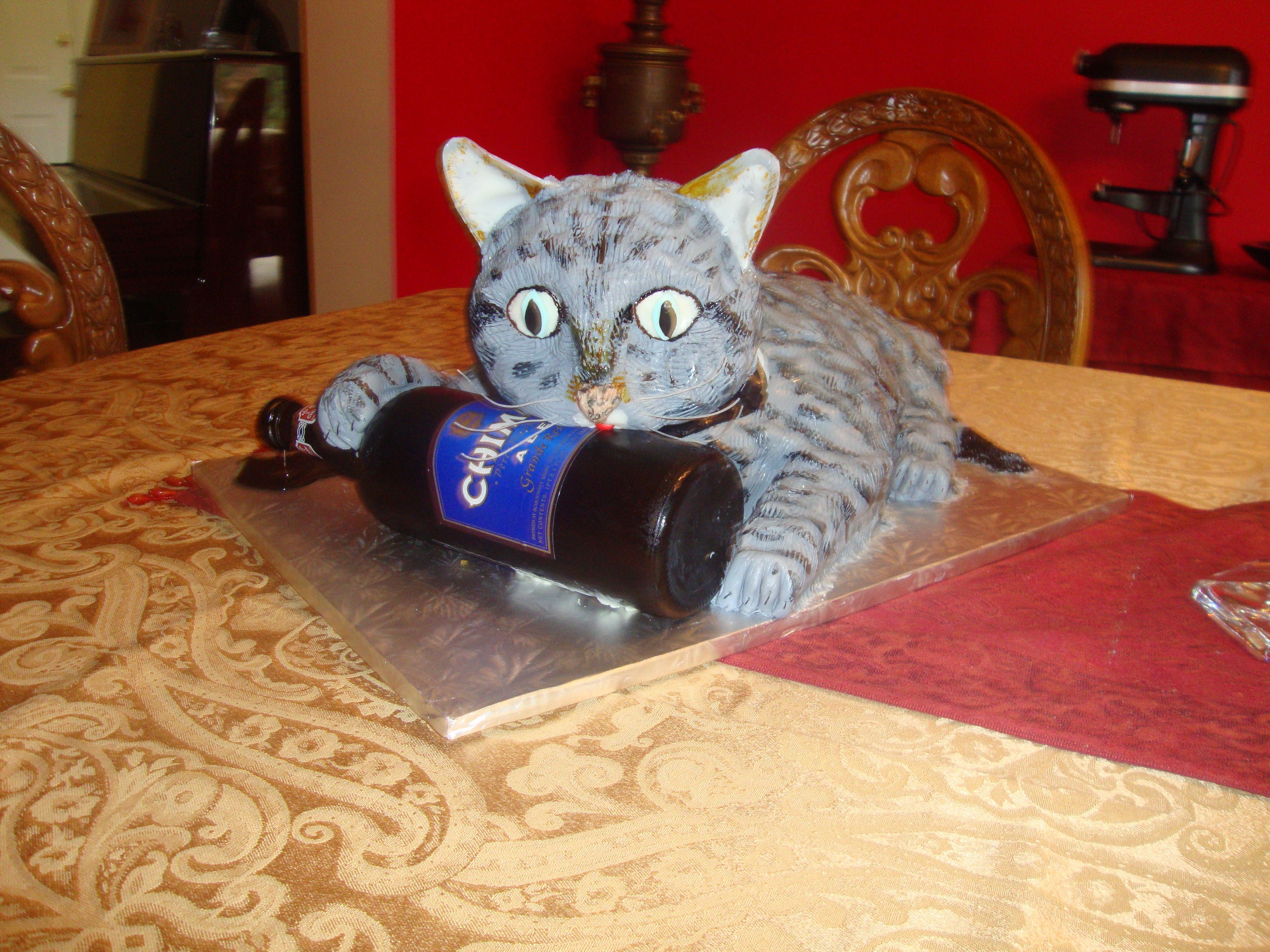 cat beer bottle animal - photo #19
