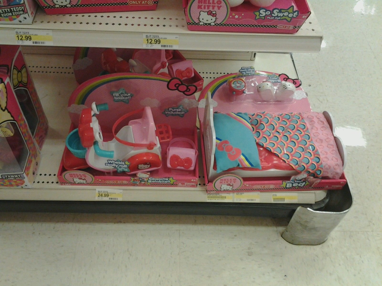 Hello Kitty Doll Car and Bed - Target  oh no! its Hello ..... Kitty ...