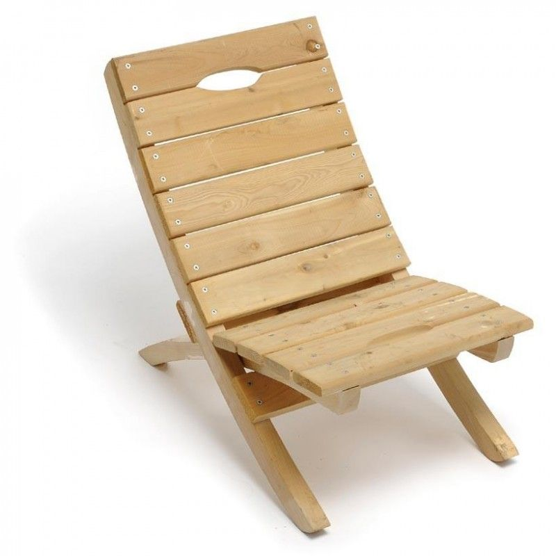Simple wooden beach chair make pinterest for Wooden chair