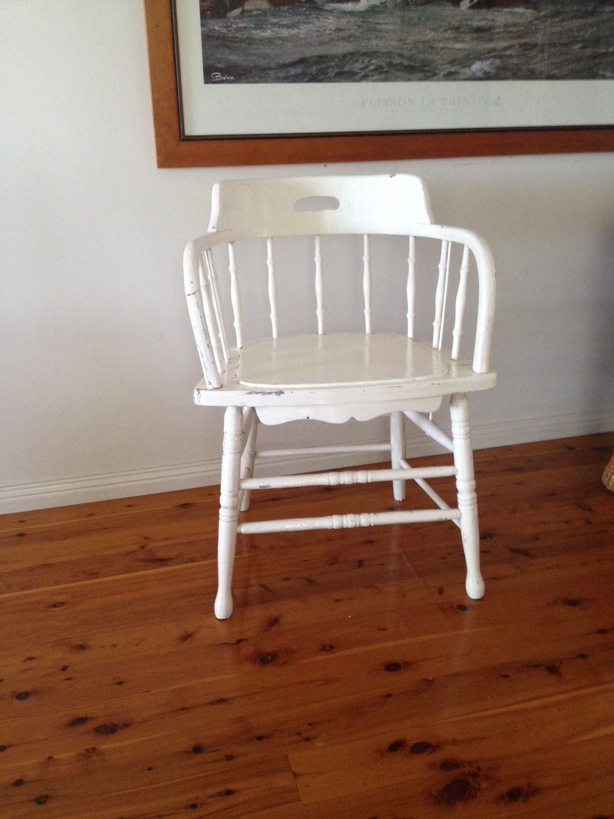 Captains chair paint for playroom shabby chic pinterest