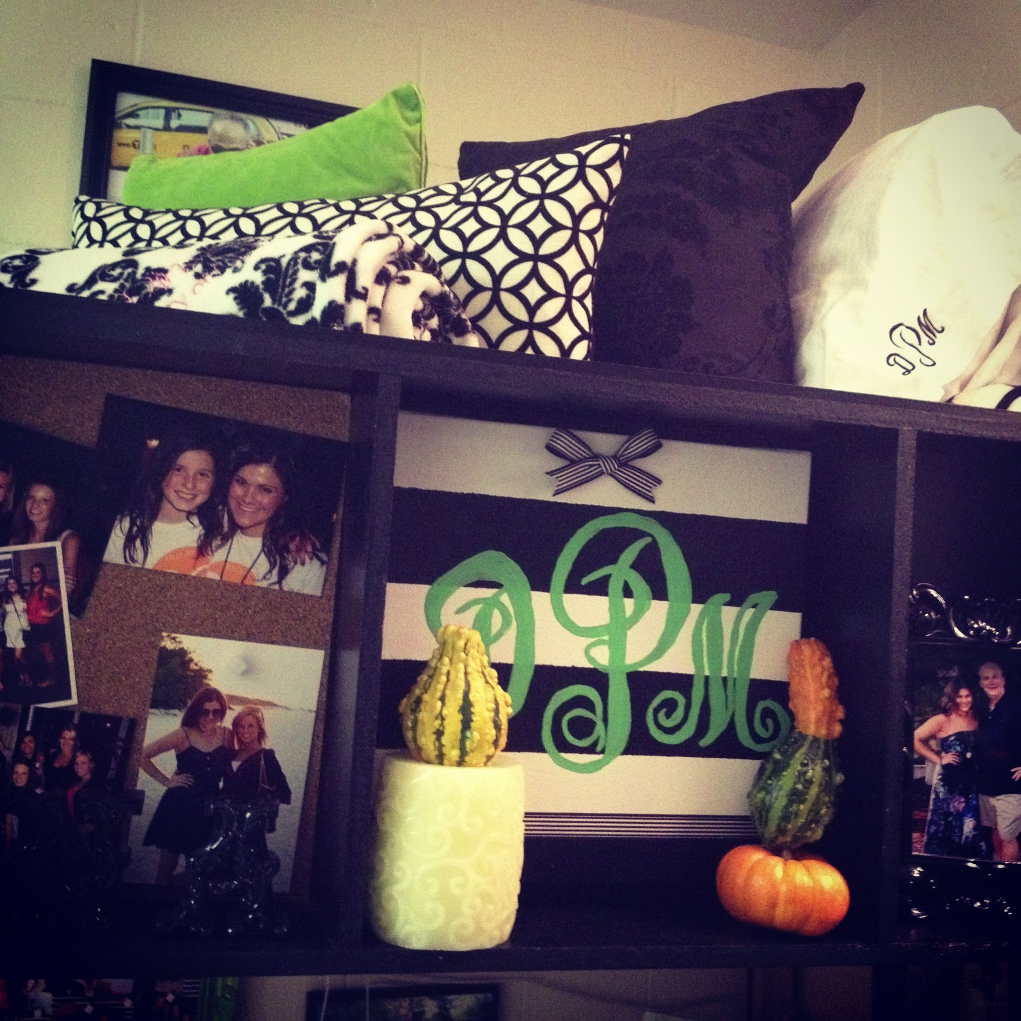 Decorating Ideas > Fall Monogrammed Dorm Room  Cool Home Stuff  Pinterest ~ 204643_Uwsp Dorm Room Ideas