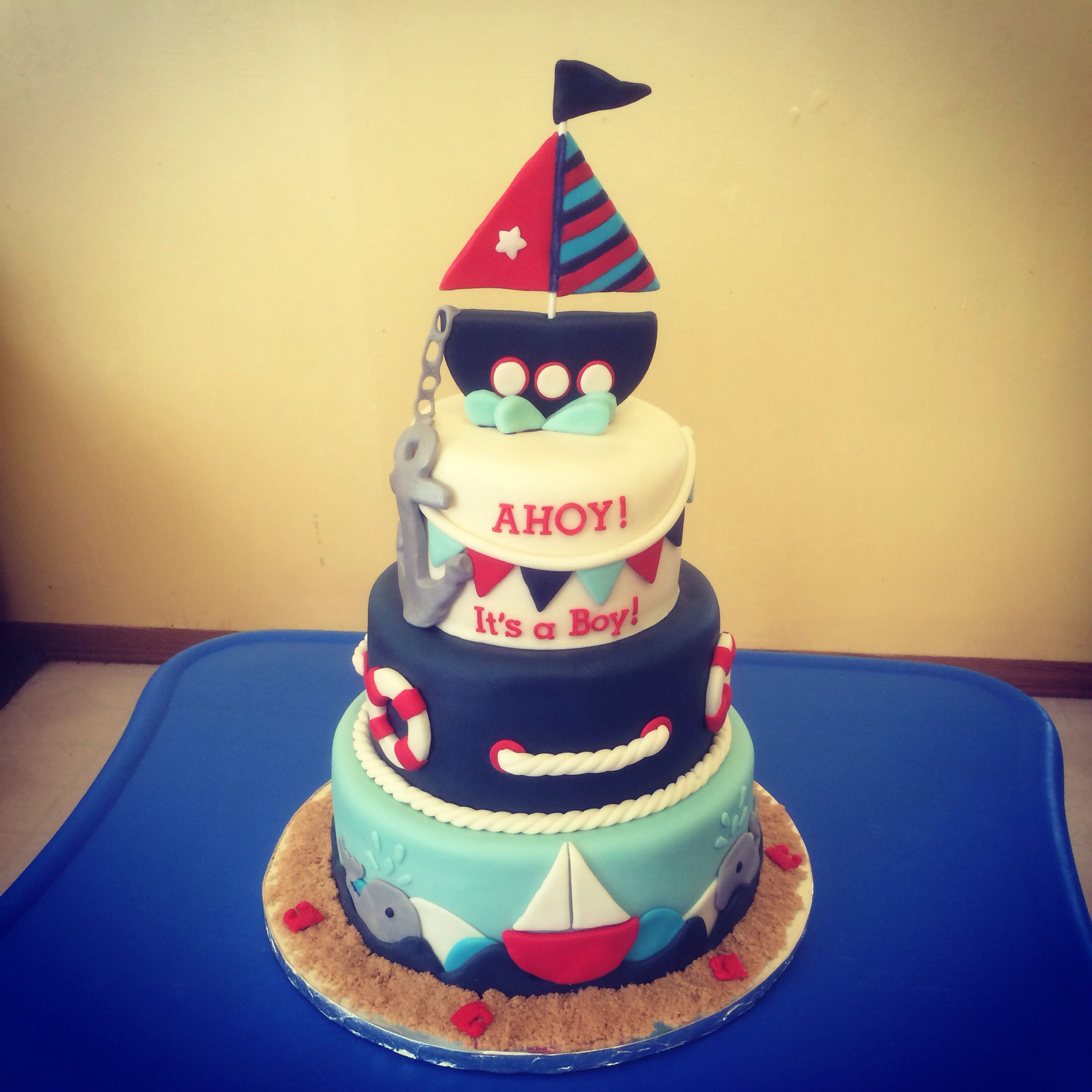 nautical themed baby shower cake cakes i 39 ve done pinterest