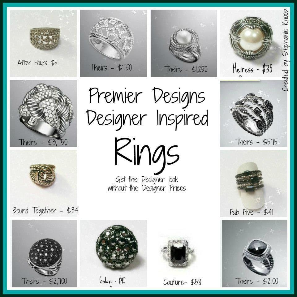 premier s designer inspired rings premier designs