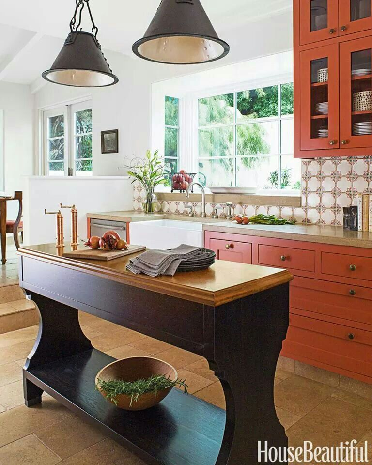 Burnt orange kitchen  Home Sweet Home  Pinterest
