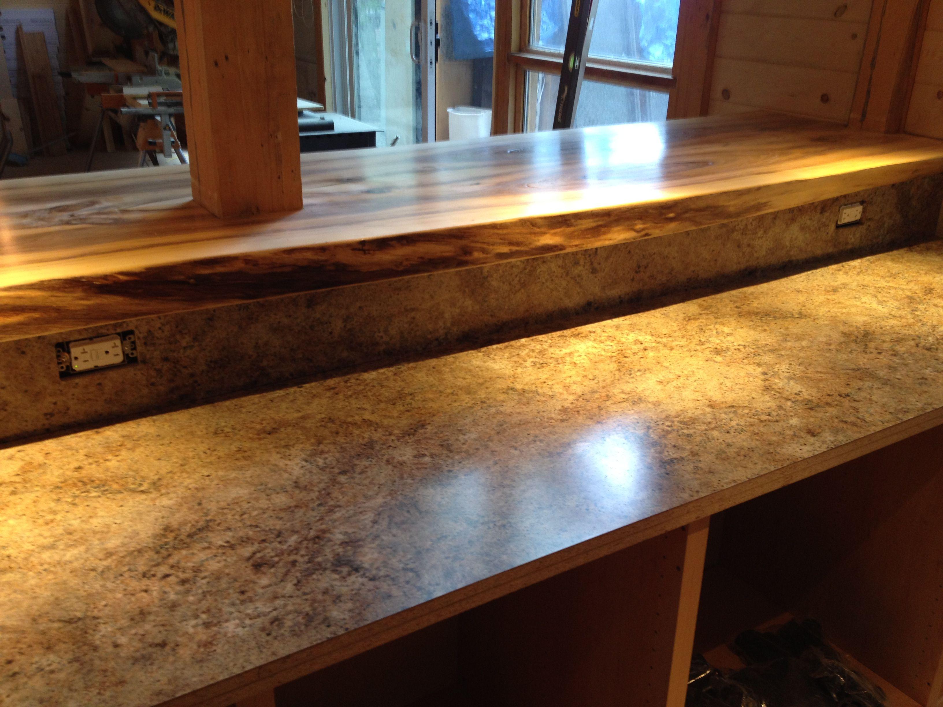 Installing countertops. Cabin Renovation Pinterest