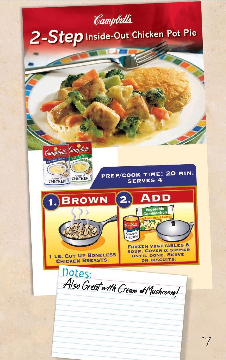 Inside Out Chicken Pot Pie   Chicken   Pinterest