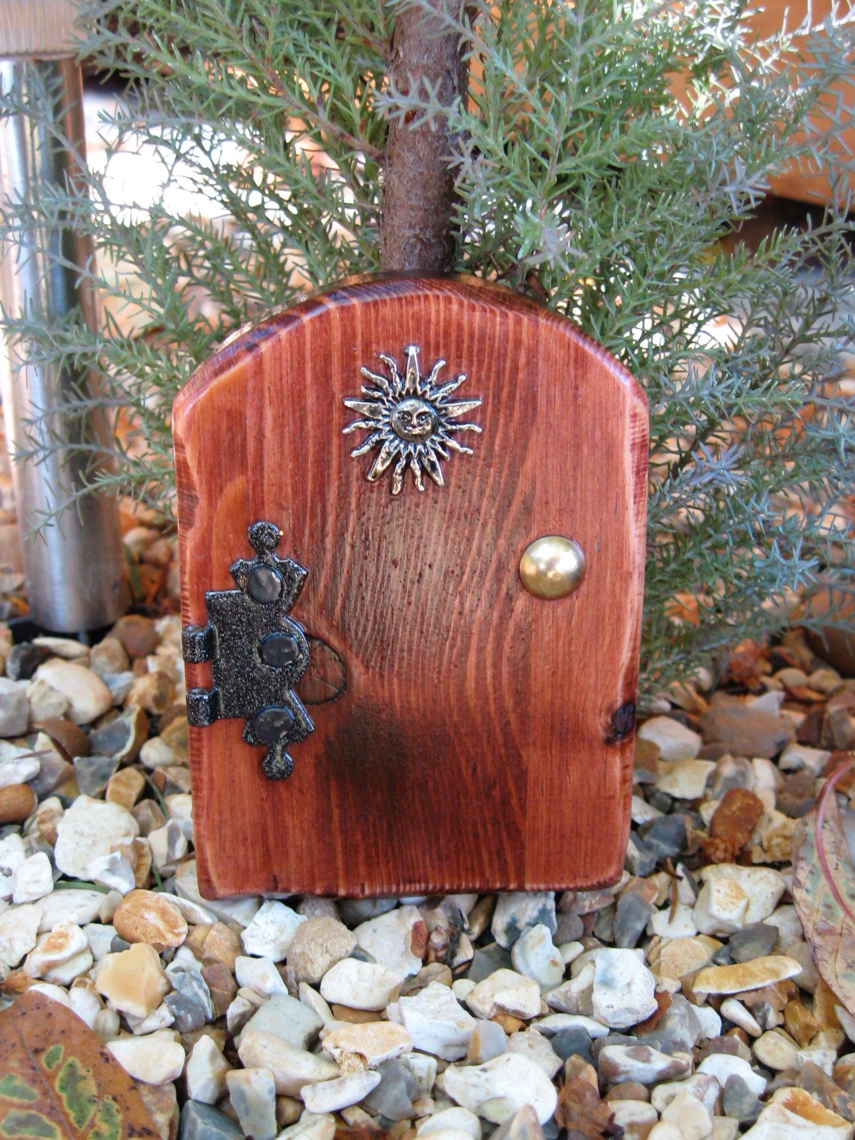 Fairy door wooden fairy doors pinterest for Wooden fairy doors that open