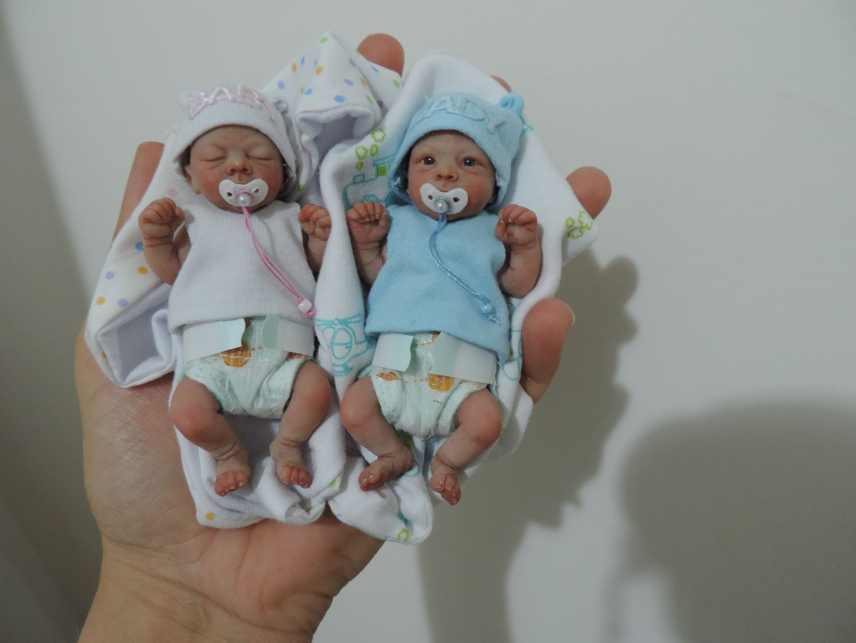 Ooak 4 quot polymer baby dolls crochet pinterest