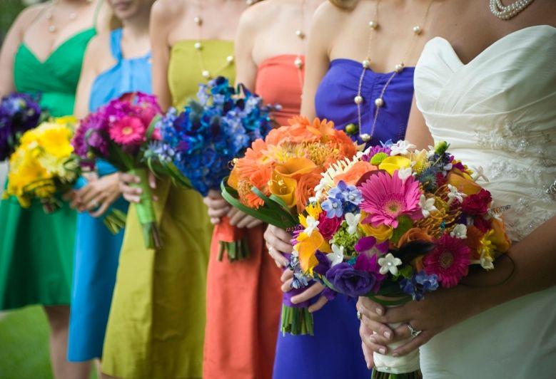 March Wedding Bridesmaid Colors