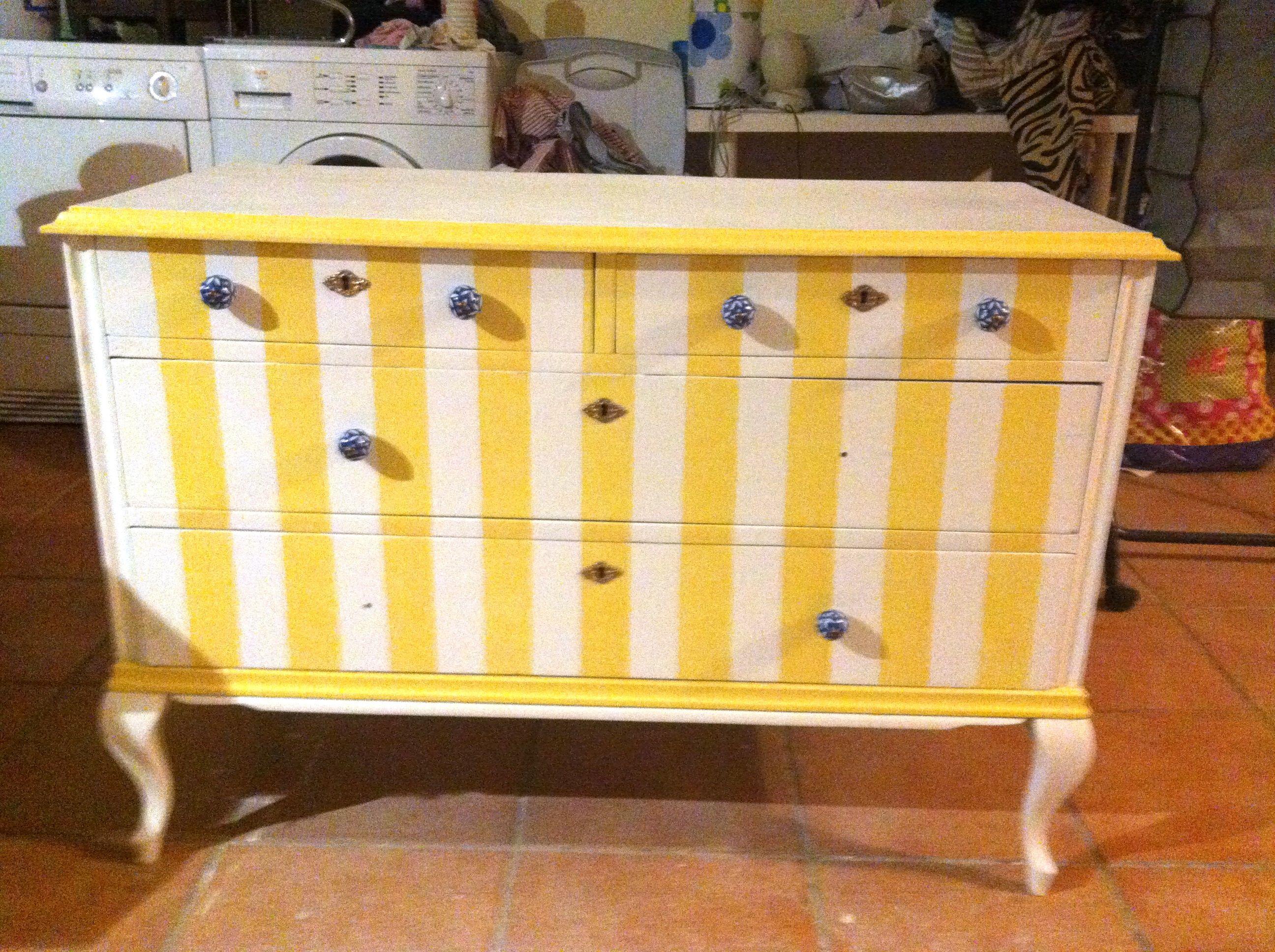 Stripes painted furniture naifandtastic pinterest - Painting stripes on furniture ...