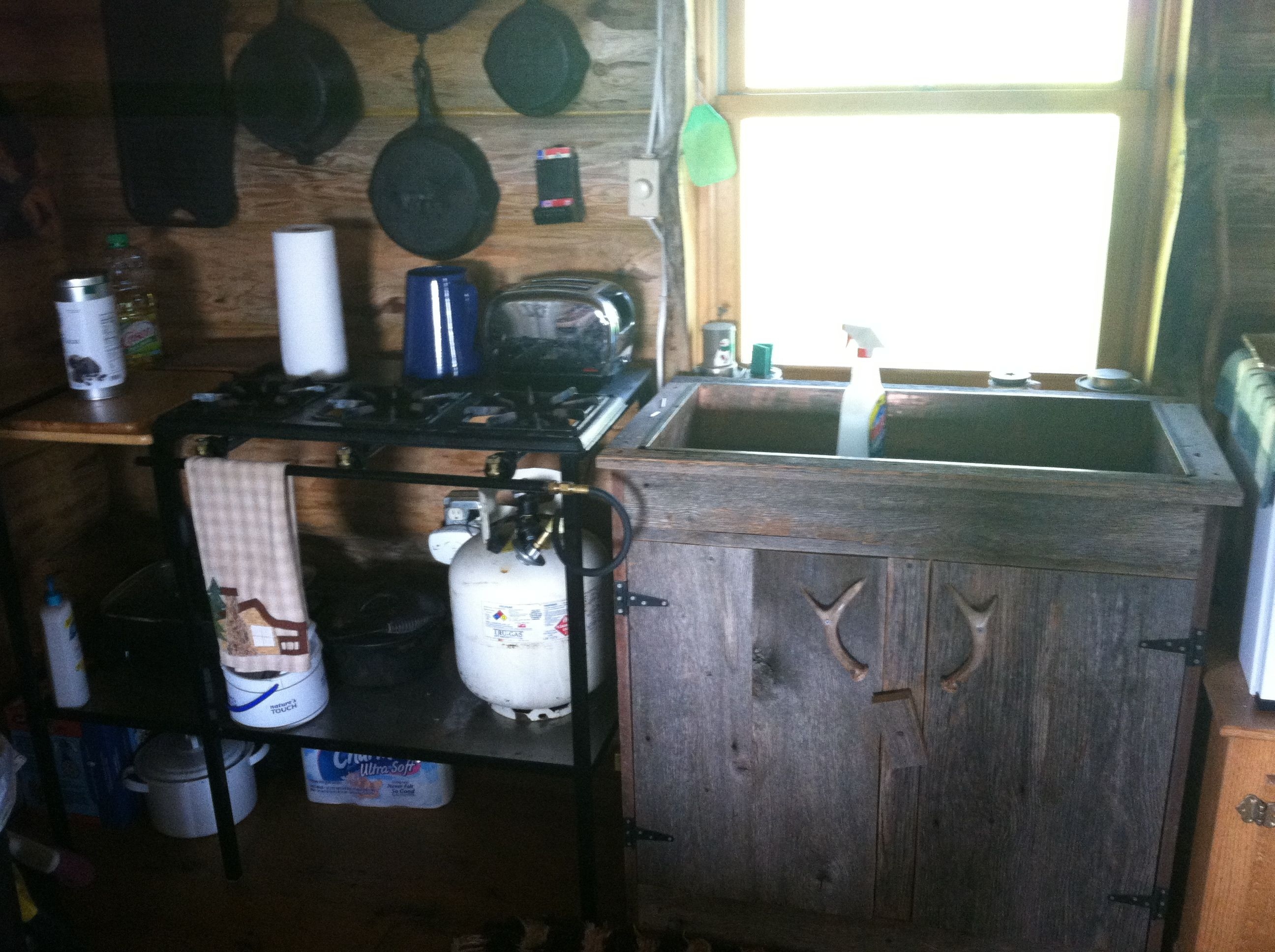 Marvelous photograph of Dry sink inside Uncle John's cabin. Bunk House Designs Pinterest with #827A49 color and 2592x1936 pixels
