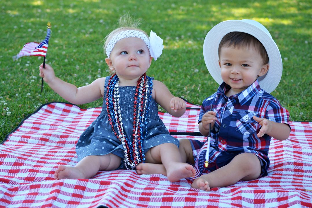 4th of july children's dresses