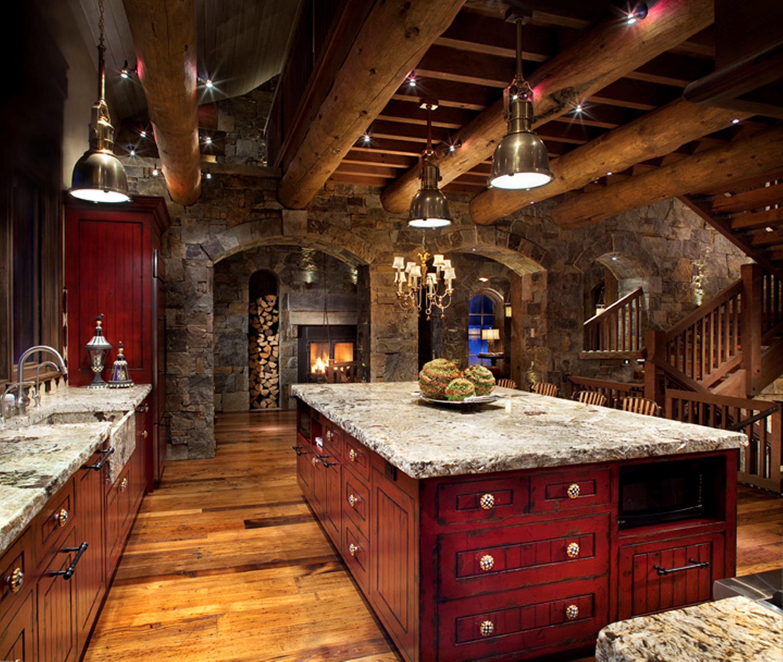 Hunter and co interior design cabin kitchen pinterest for Hunting cabin interior designs