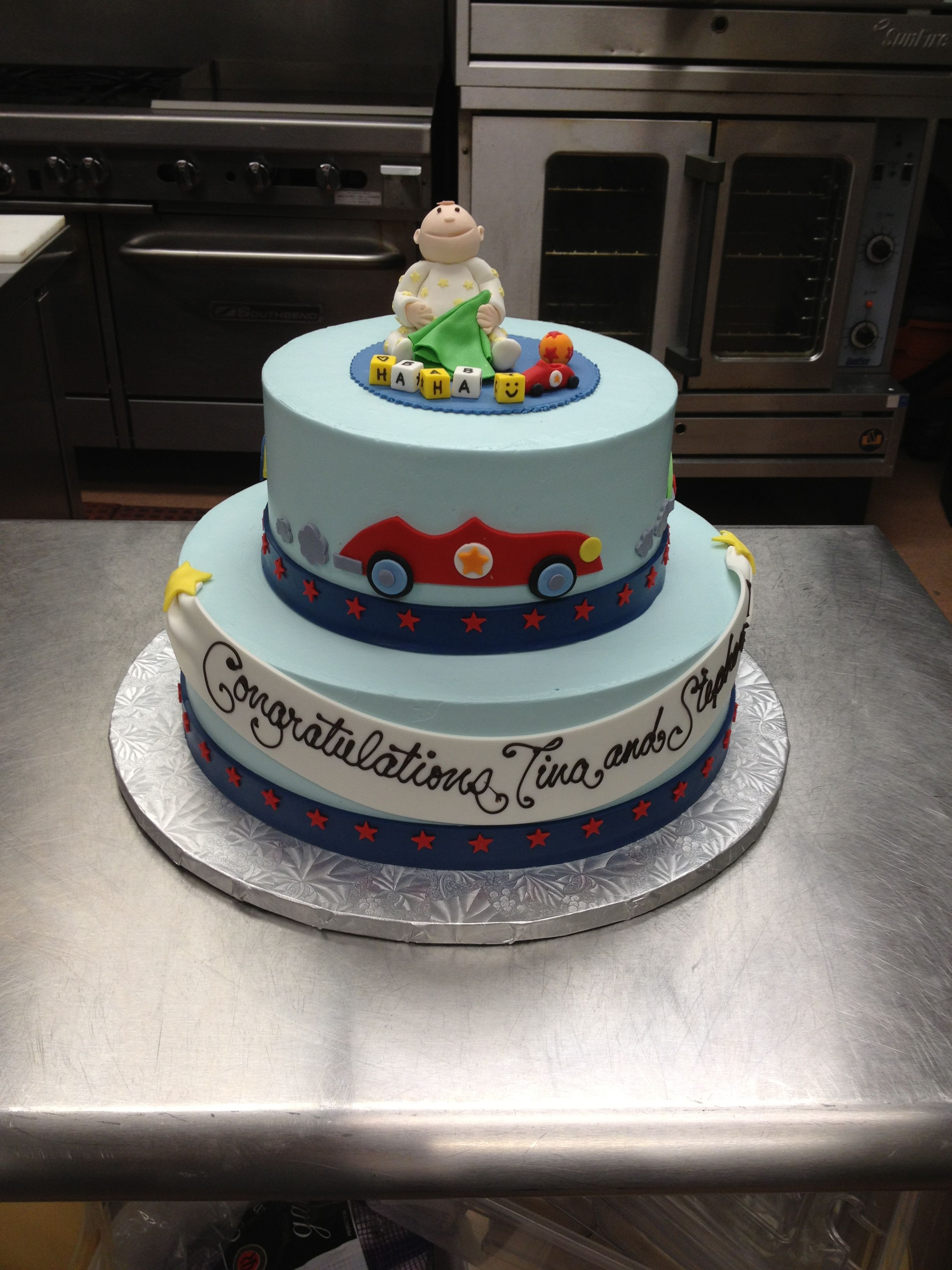 Baby Shower Cakes Okc ~ Hot rods and comedy was the theme of this little boy s